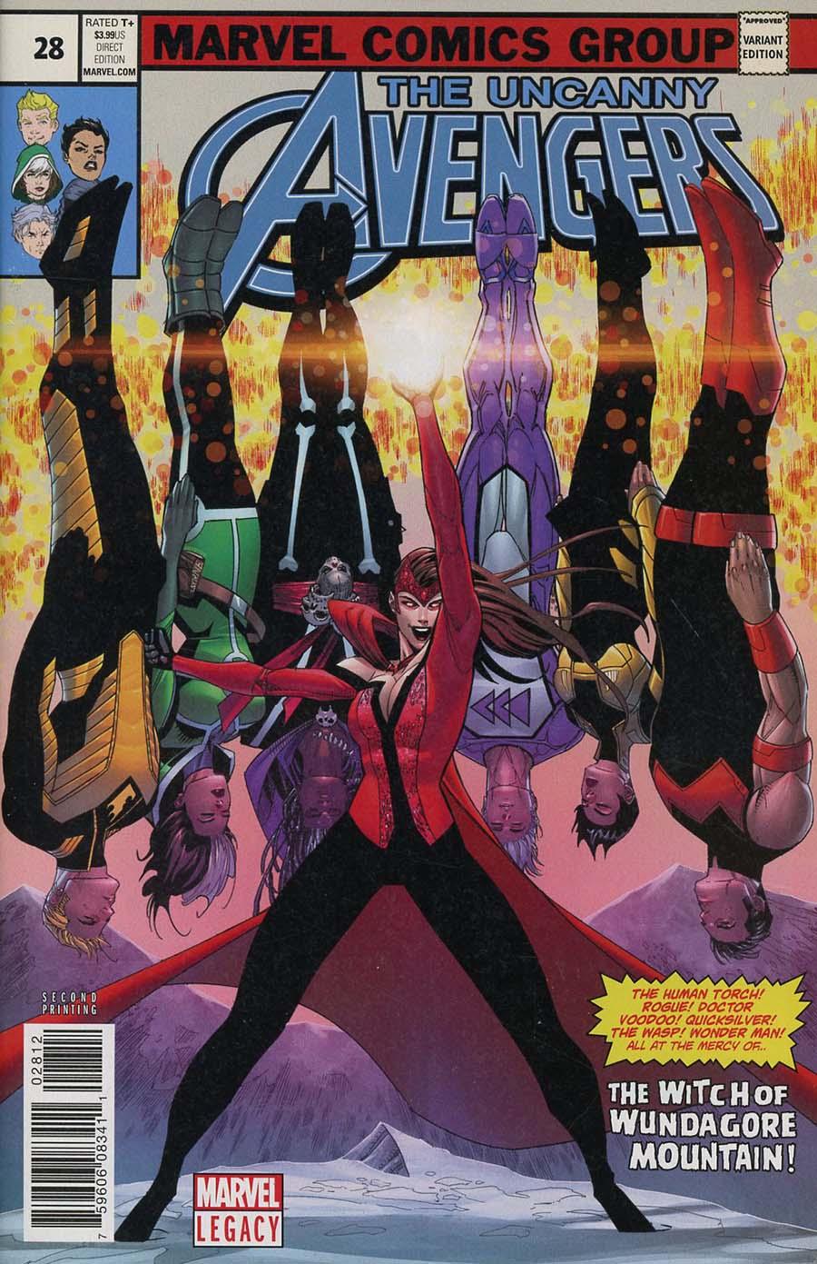 Uncanny Avengers Vol 3 #28 Cover E 2nd Ptg Variant Jon Malin Cover (Marvel Legacy Tie-In)