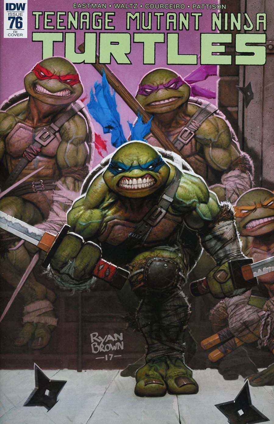 Teenage Mutant Ninja Turtles Vol 5 #76 Cover C Incentive Ryan Brown Variant Cover