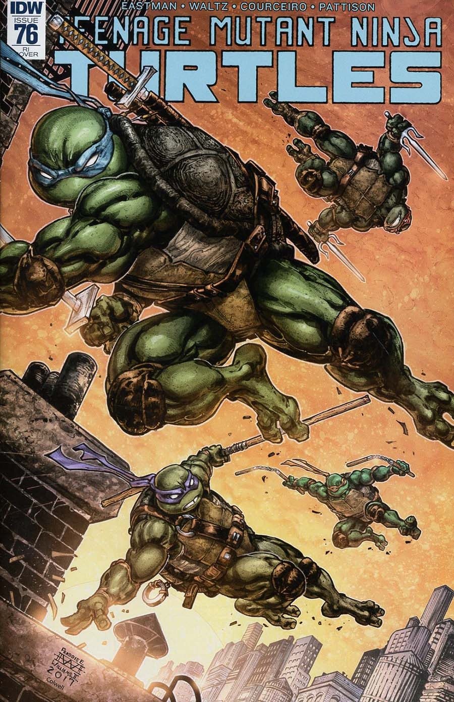 Teenage Mutant Ninja Turtles Vol 5 #76 Cover D Incentive Kevin Eastman Variant Cover