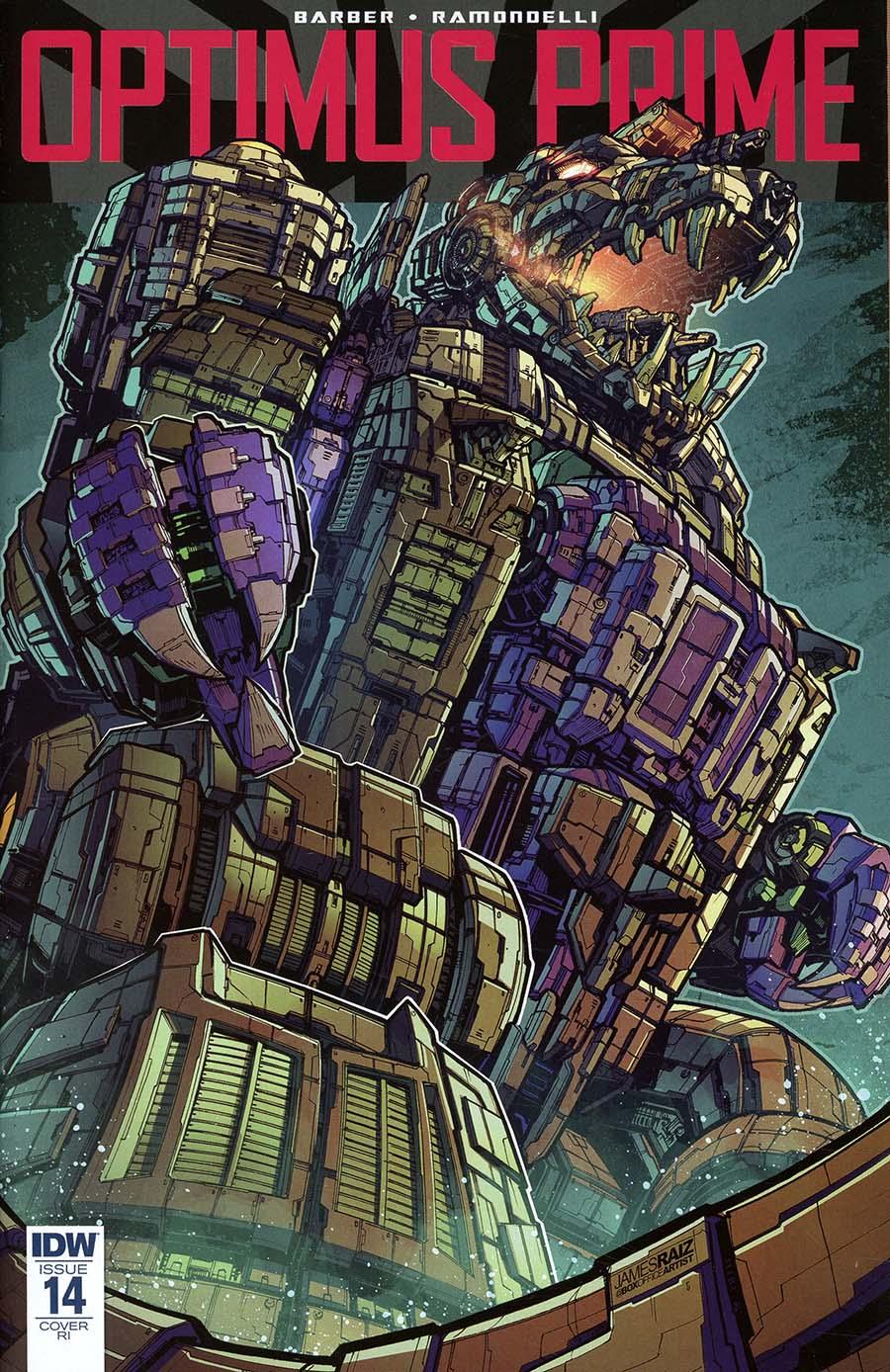 Optimus Prime #14 Cover D Incentive James Raiz Variant Cover