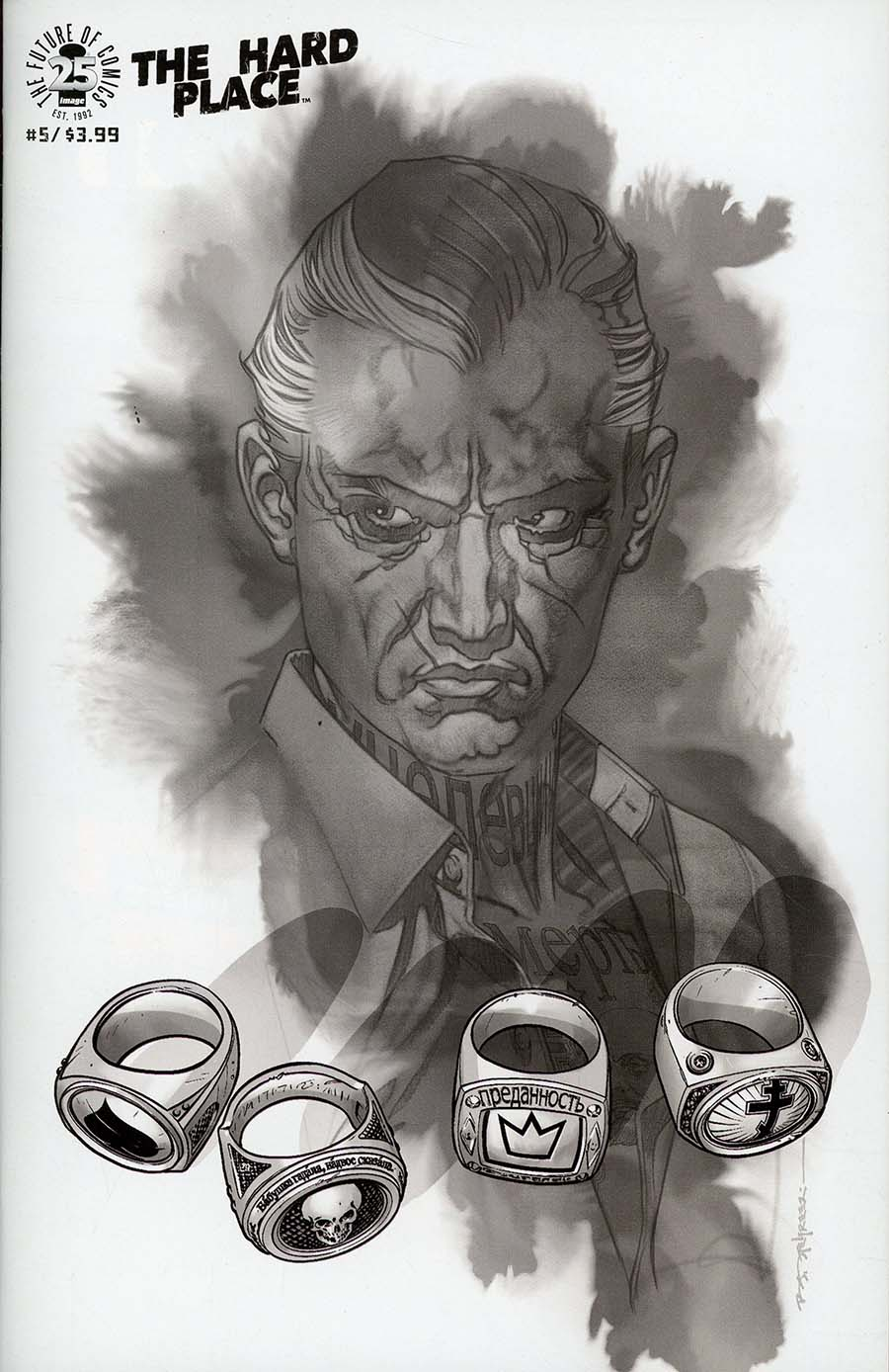 Hard Place #5 Cover C Incentive Brian Stelfreeze Black & White Cover