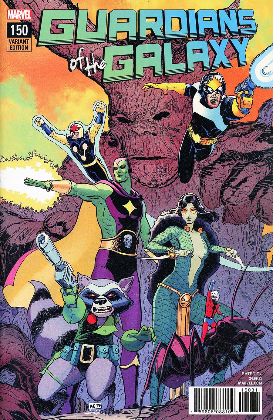 Guardians Of The Galaxy Vol 4 #150 Cover E Incentive Aaron Kuder Variant Cover (Marvel Legacy Tie-In)