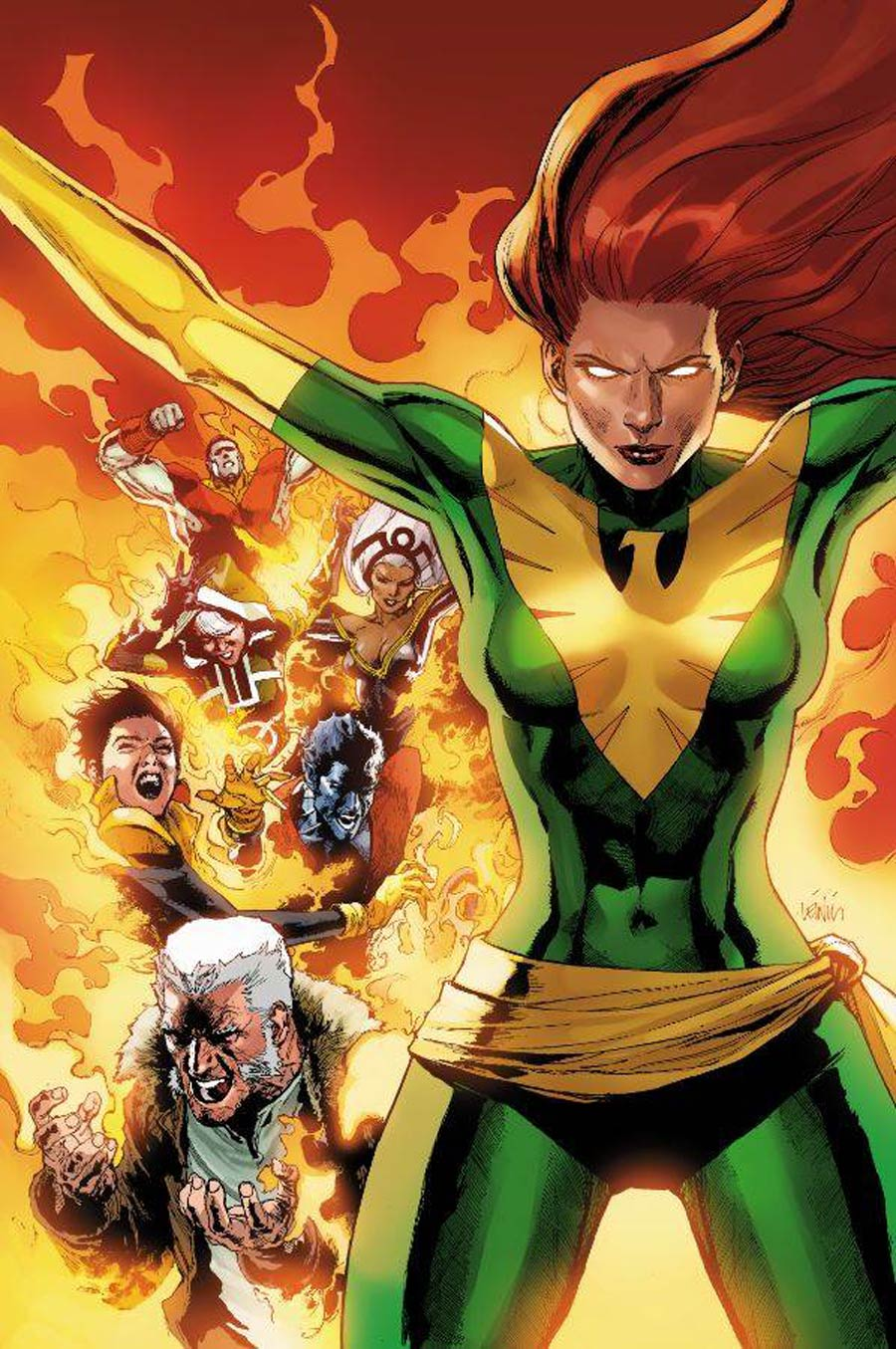 Phoenix Resurrection Return Of (Adult) Jean Grey #1 Cover I Incentive Leinil Francis Yu Green Costume Variant Cover (Marvel Legacy Tie-In)