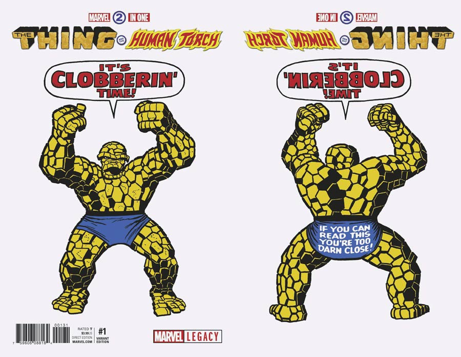 Marvel Two-In-One Vol 3 #1 Cover G Incentive Jack Kirby 1965 T-Shirt Variant Cover (Marvel Legacy Tie-In)