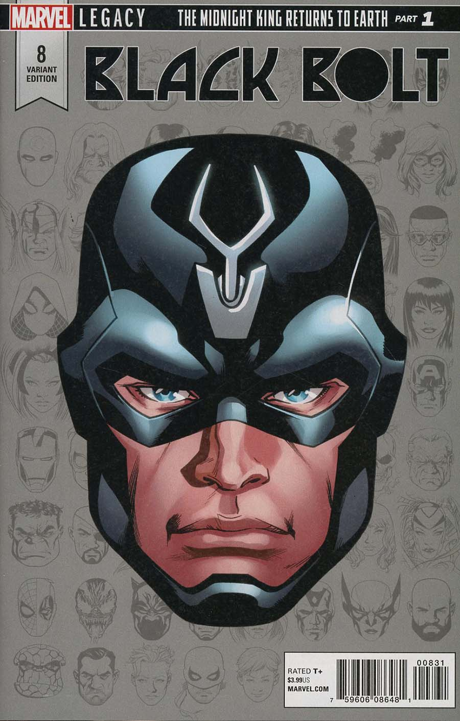 Black Bolt #8 Cover C Incentive Mike McKone Legacy Headshot Variant Cover (Marvel Legacy Tie-In)