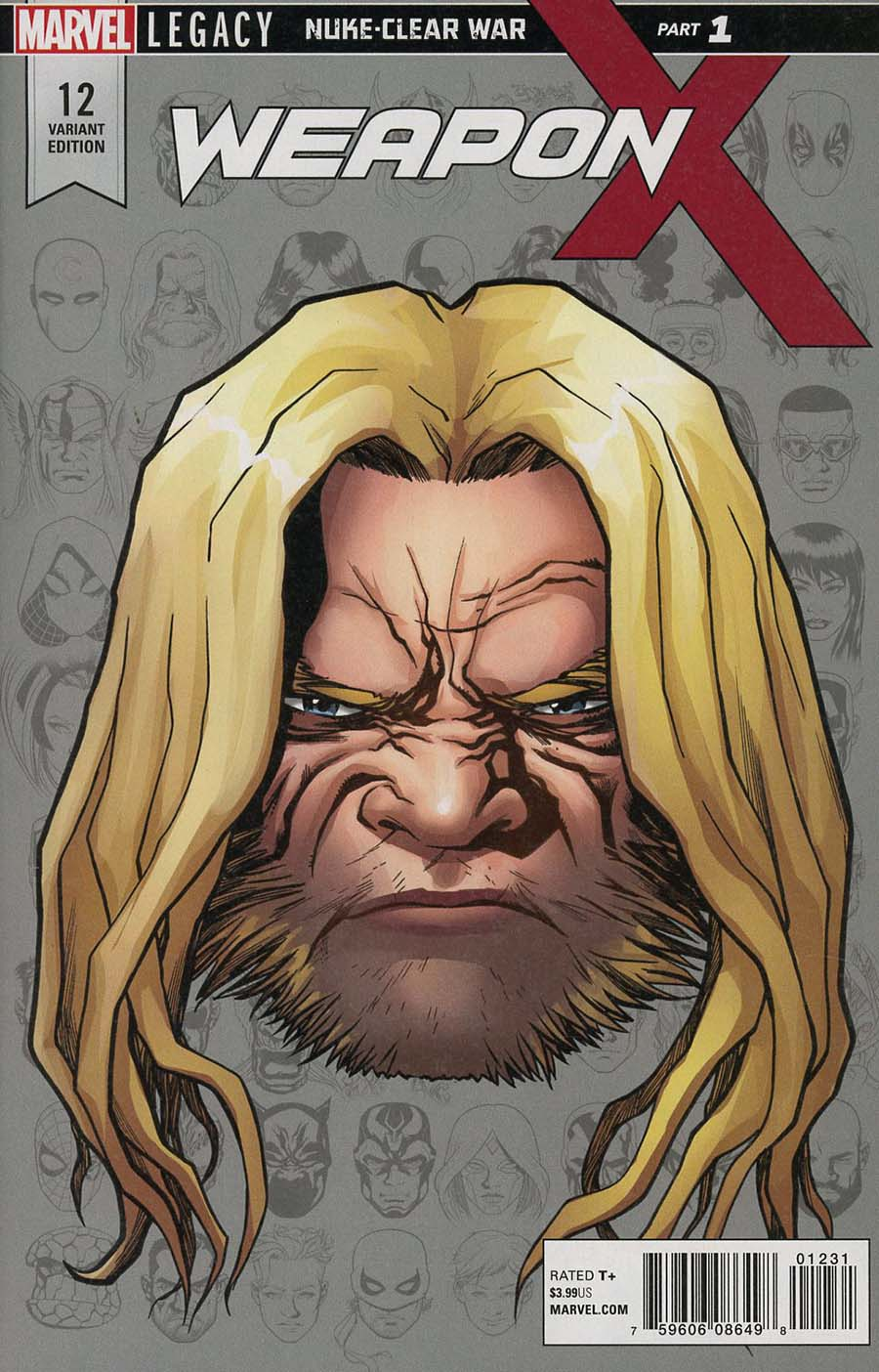 Weapon X Vol 3 #12 Cover D Incentive Mike McKone Legacy Headshot Variant Cover (Marvel Legacy Tie-In)