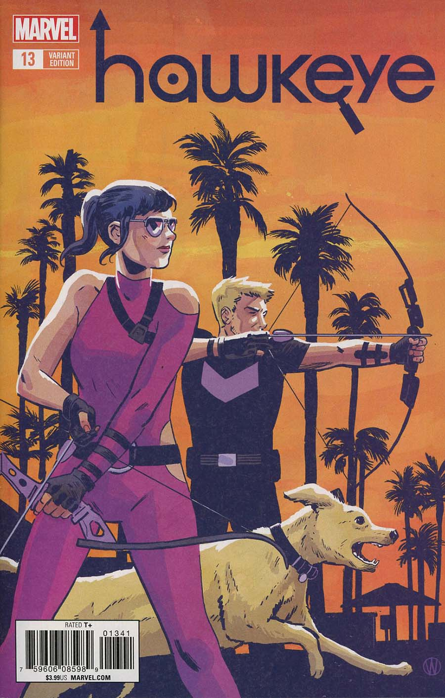 Hawkeye Vol 5 #13 Cover D Incentive Michael Walsh Variant Cover (Marvel Legacy Tie-In)