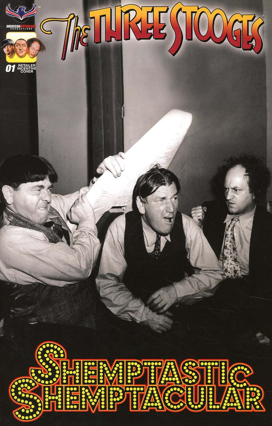 Three Stooges Shemptastic Shemptacular Special Cover D Incentive Black & White Photo Variant Cover