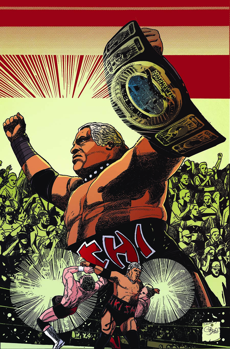 WWE #12 Cover E Incentive Carlos Magno Forever Virgin Variant Cover