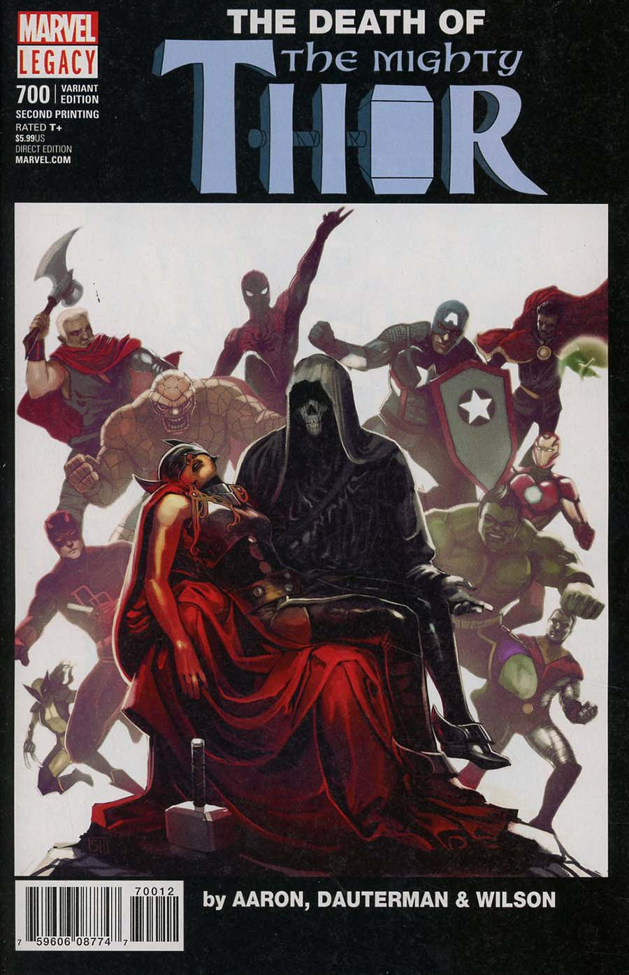 Mighty Thor Vol 2 #700 Cover K 2nd Ptg Variant Stephanie Hans Cover (Marvel Legacy Tie-In)