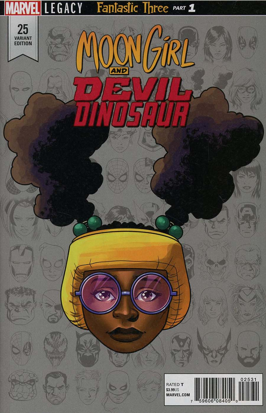Moon Girl And Devil Dinosaur #25 Cover D Incentive Mike McKone Legacy Headshot Variant Cover (Marvel Legacy Tie-In)