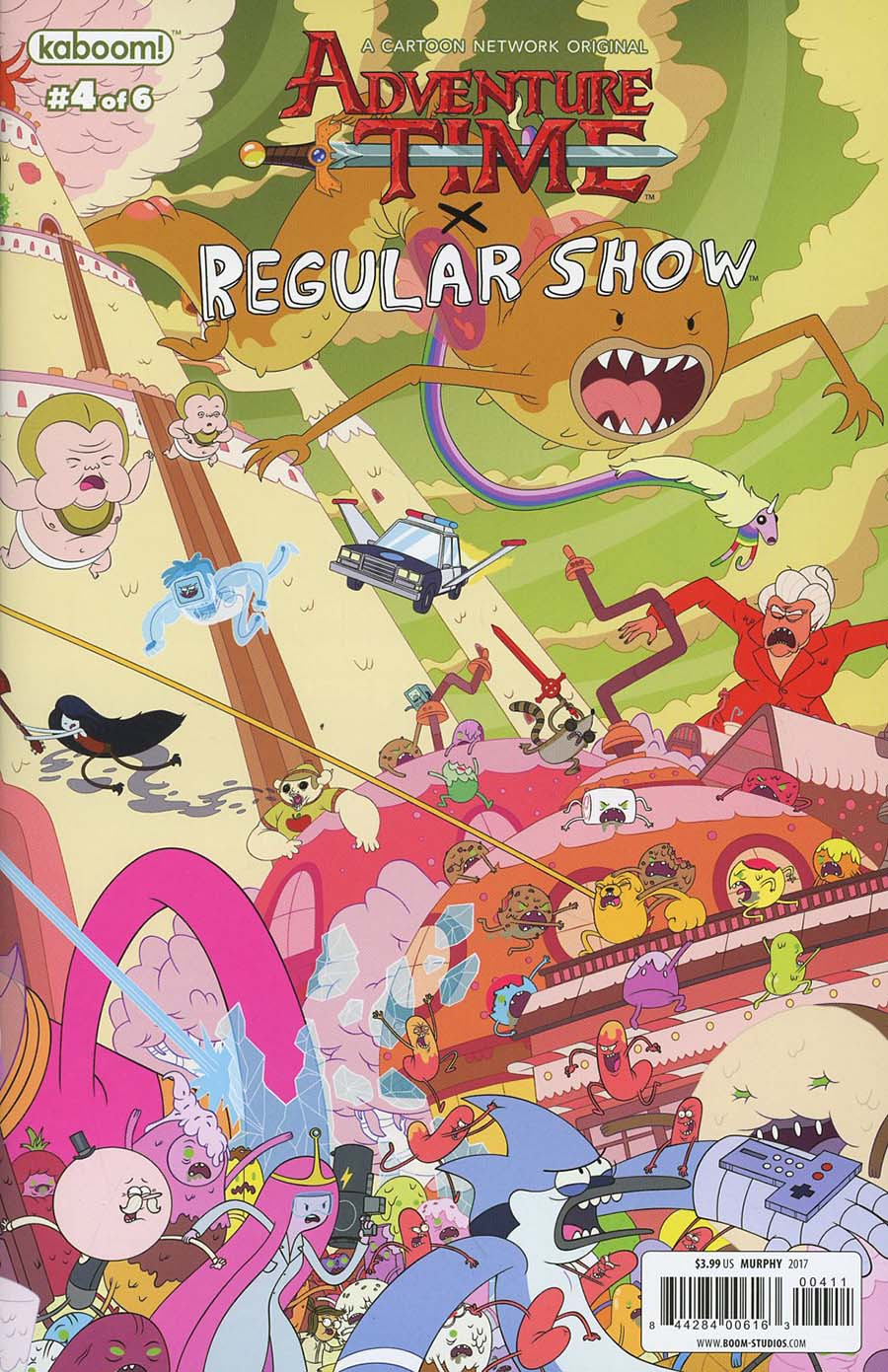 Adventure Time Regular Show #4 Cover B Regular Phil Murphy Connecting Right Cover