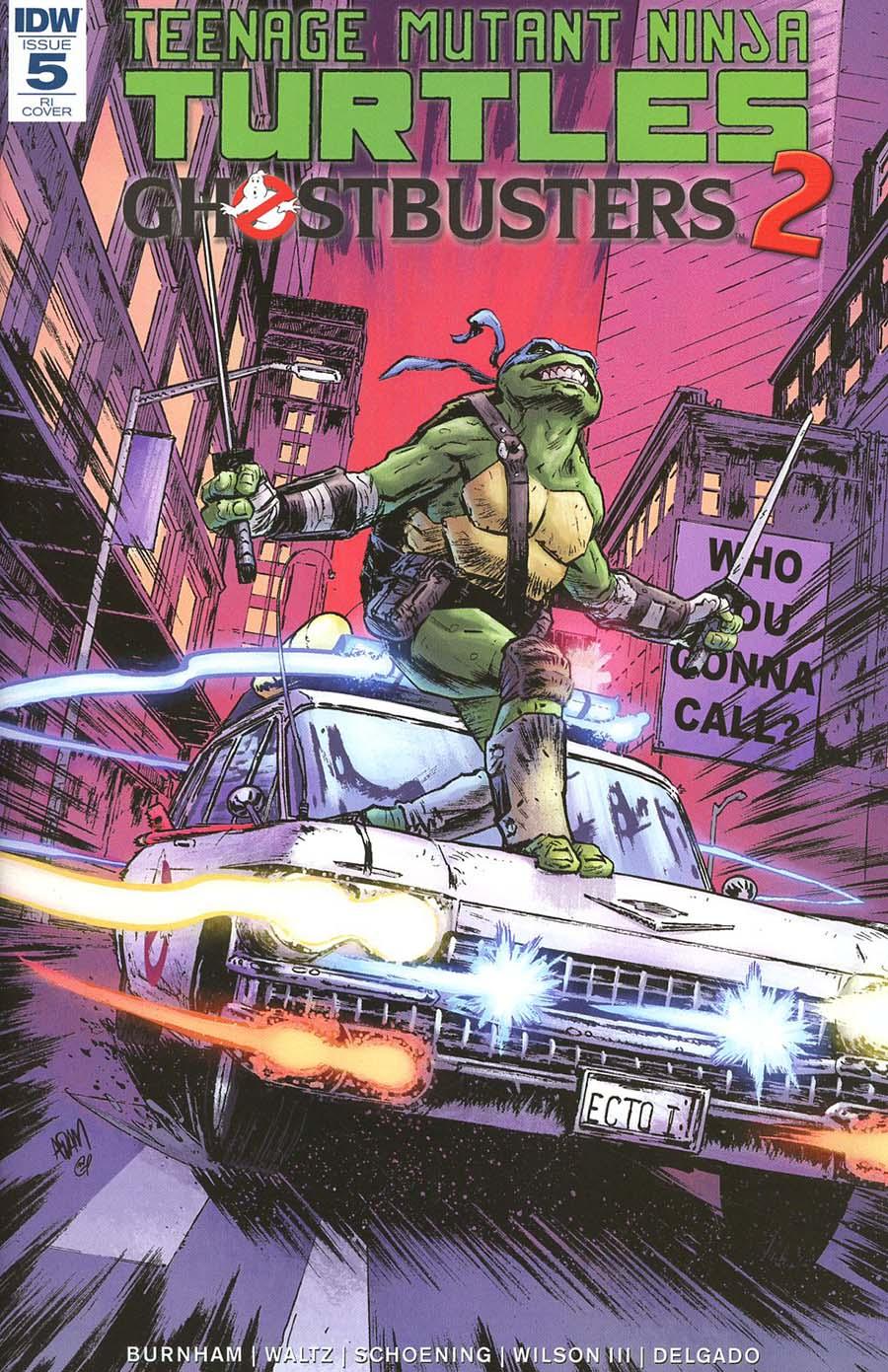 Teenage Mutant Ninja Turtles Ghostbusters II #5 Cover C Incentive Adam Gorham Variant Cover