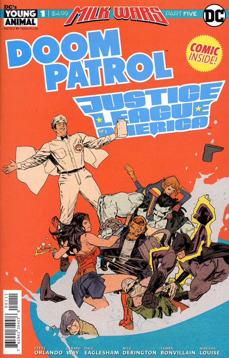 Doom Patrol JLA Special #1 Cover A Regular Clay Mann Cover (Milk Wars Part 5)