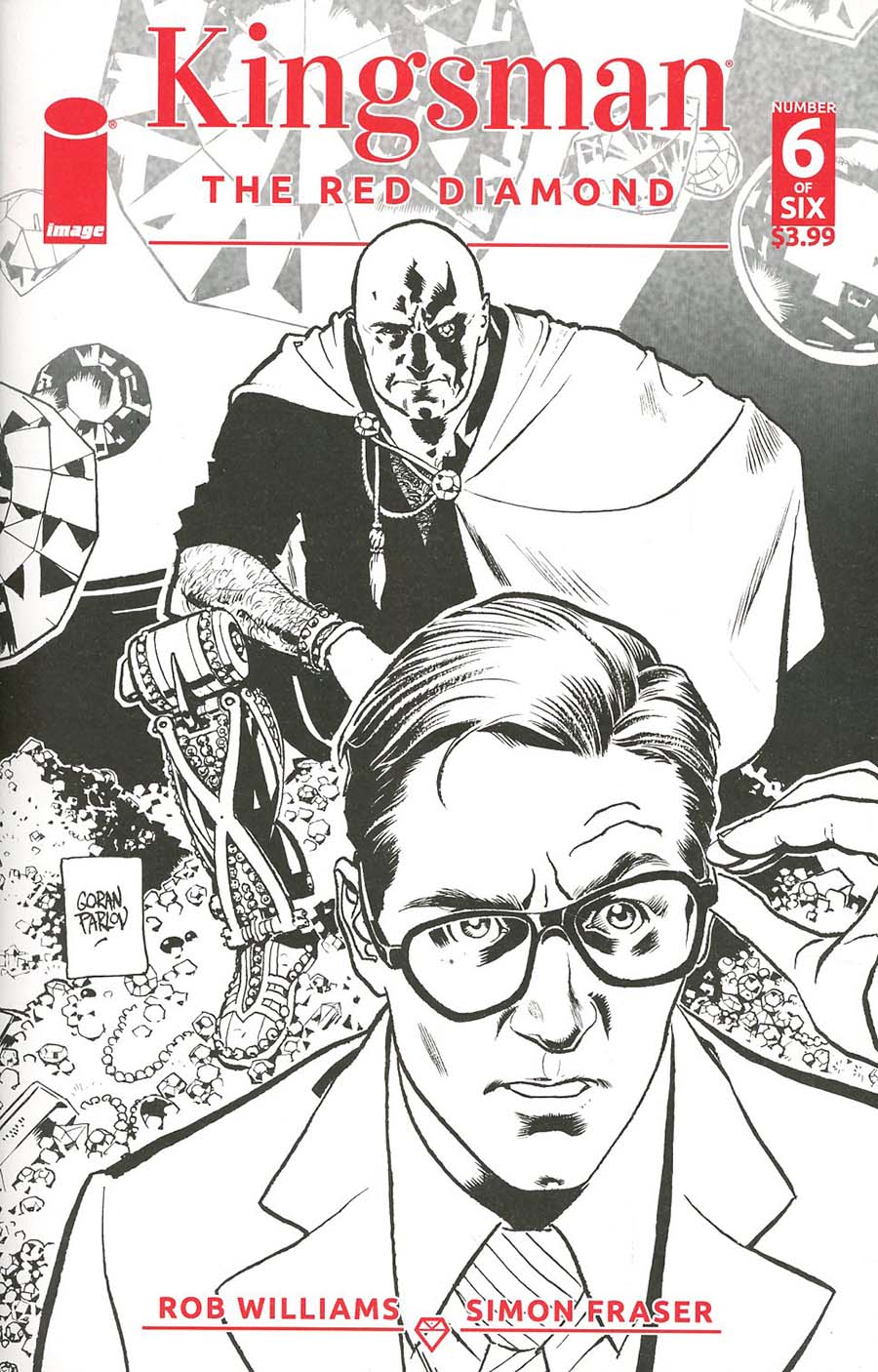 Kingsman Red Diamond #6 Cover B Variant Goran Parlov Sketch Cover