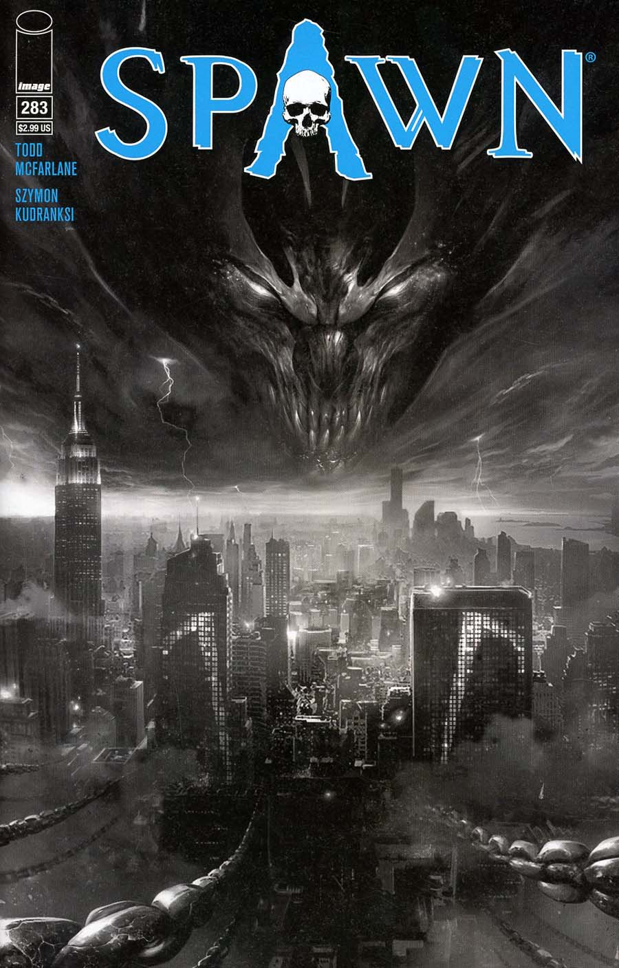 Spawn #283 Cover B Regular Francesco Mattina B&W cover