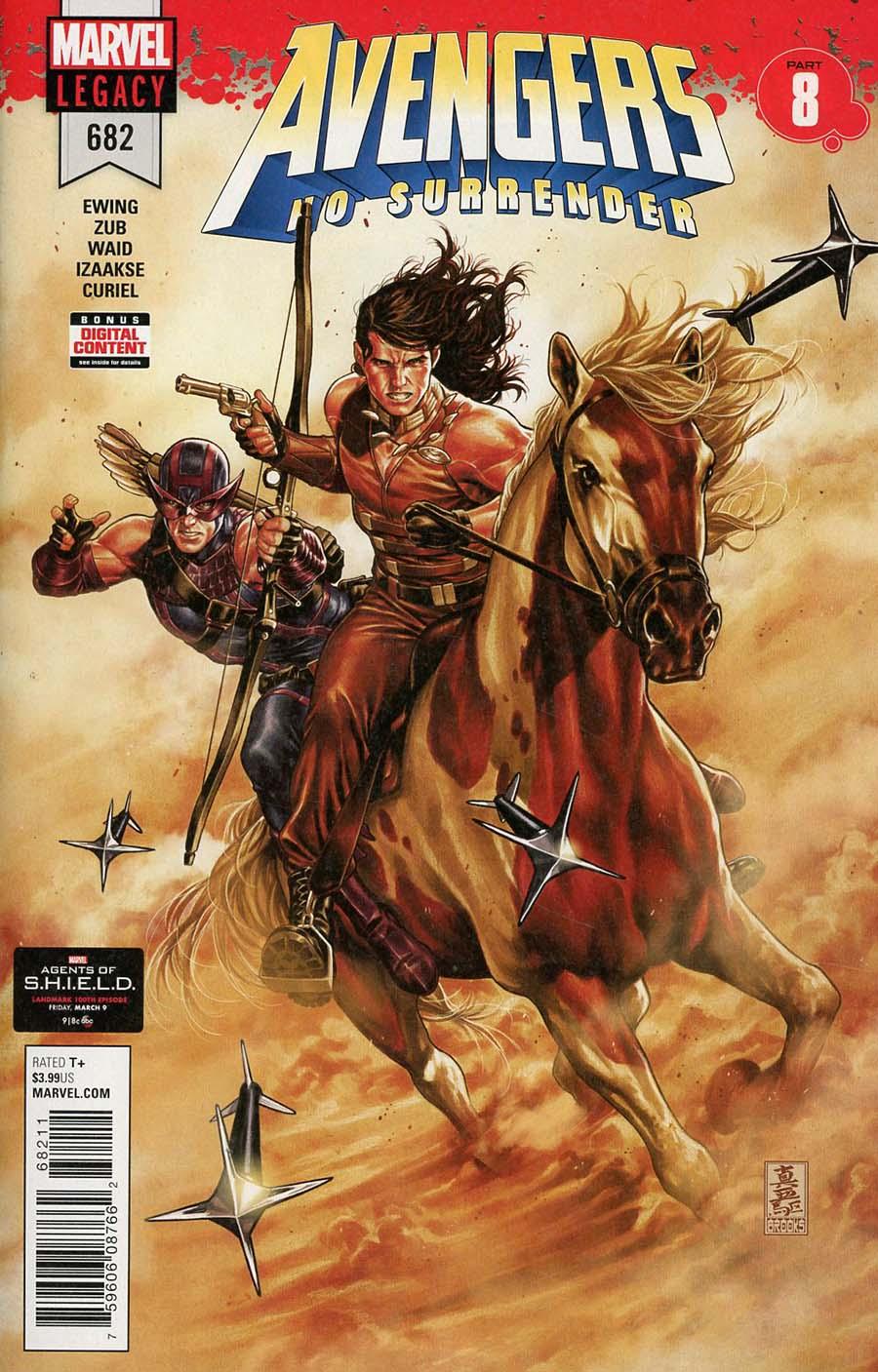 Avengers Vol 6 #682 Cover A 1st Ptg Regular Mark Brooks Cover (No Surrender Part 8)(Marvel Legacy Tie-In)