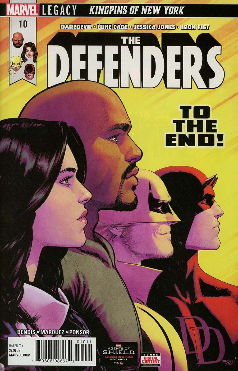 Defenders Vol 5 #10 Cover A Regular David Marquez Cover (Marvel Legacy Tie-In)