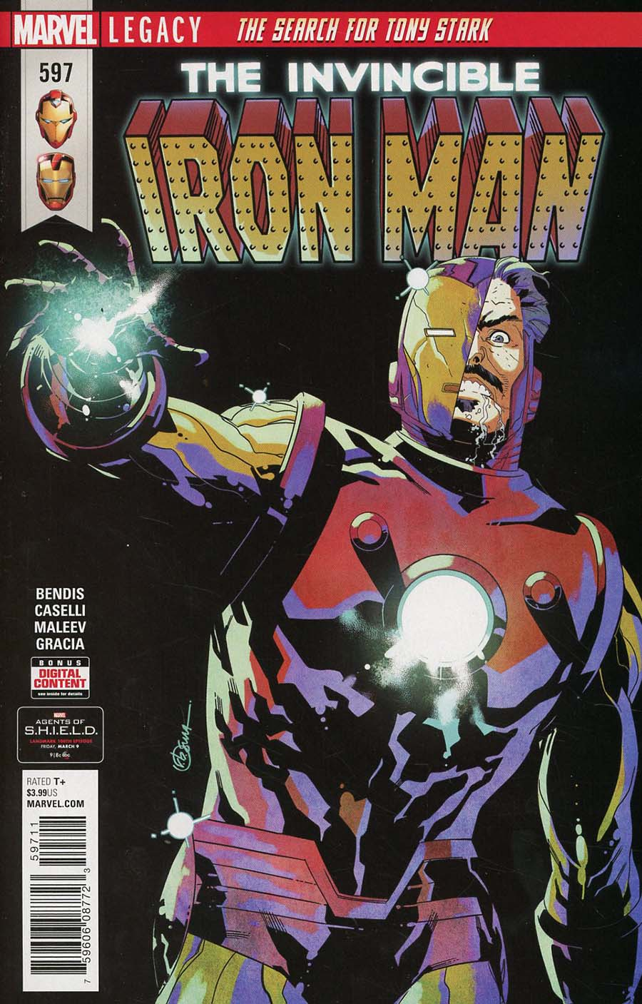Invincible Iron Man Vol 3 #597 Cover A Regular RB Silva Cover (Marvel Legacy Tie-In)
