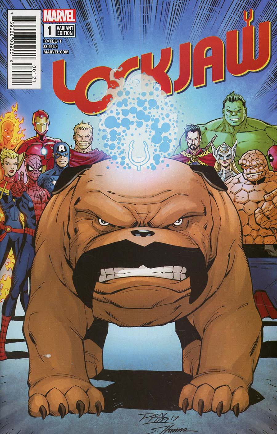 Lockjaw #1 Cover B Variant Ron Lim Cover (Marvel Legacy Tie-In)