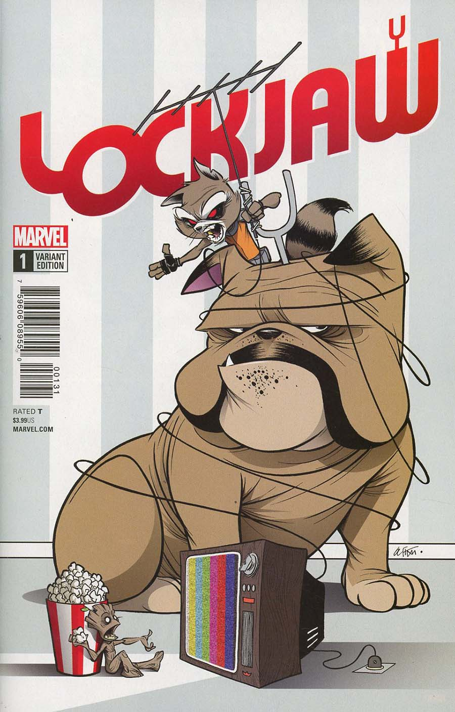 Lockjaw #1 Cover C Variant Gustavo Duarte Cover (Marvel Legacy Tie-In)