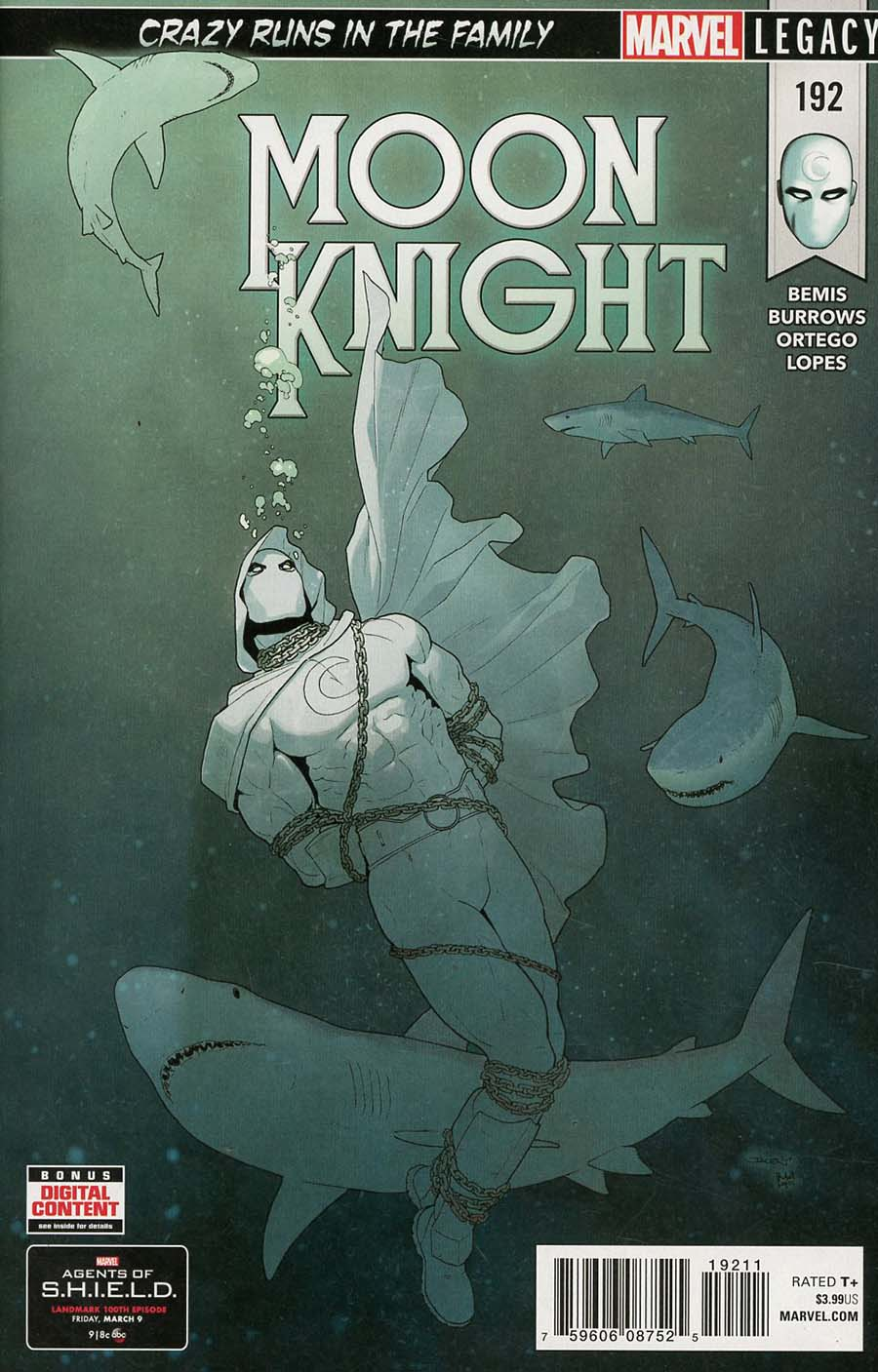 Moon Knight Vol 8 #192 (Marvel Legacy Tie-In)