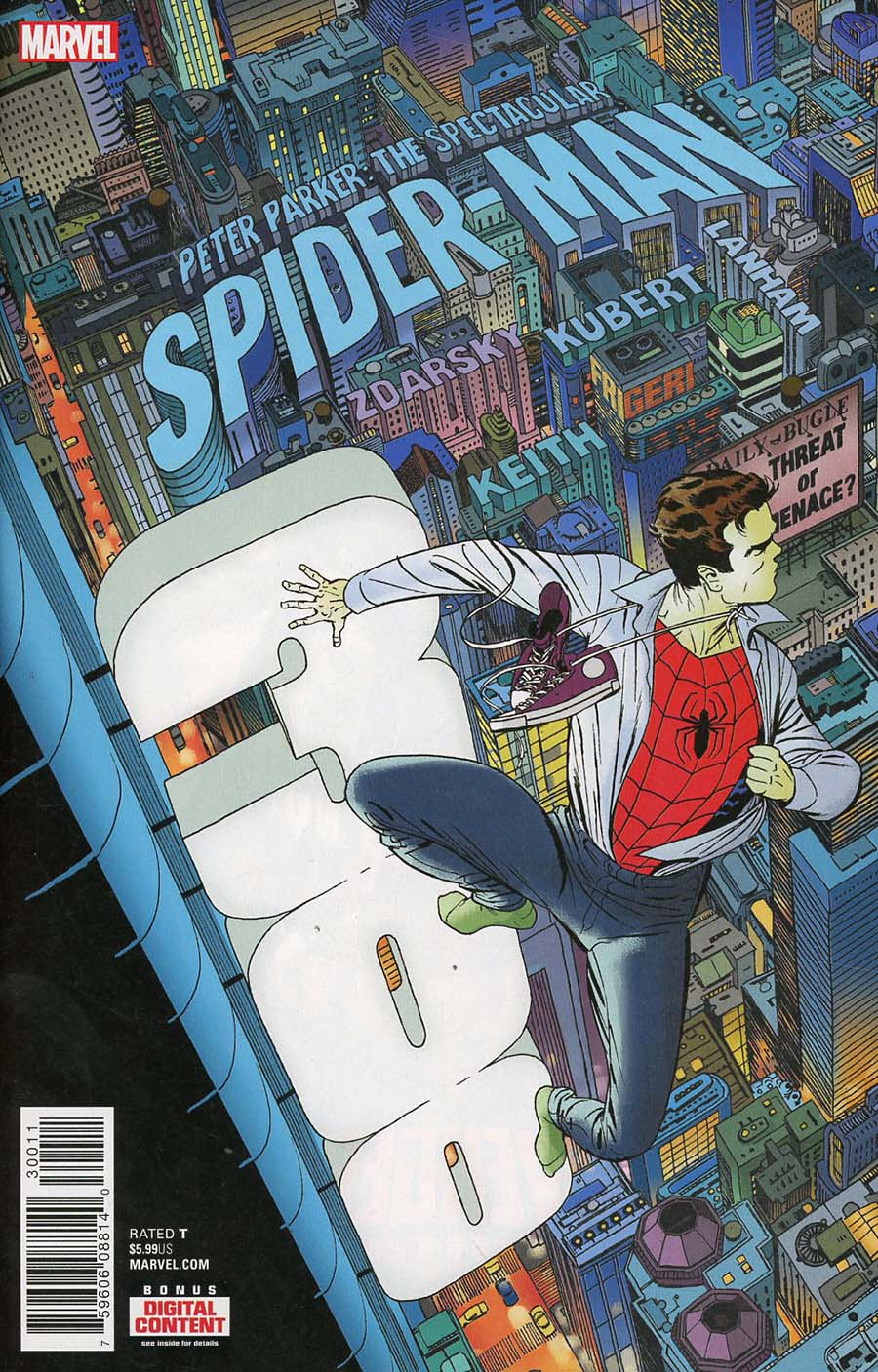 Peter Parker Spectacular Spider-Man #300 Cover A Regular Marcos Martin Cover (Marvel Legacy Tie-In)