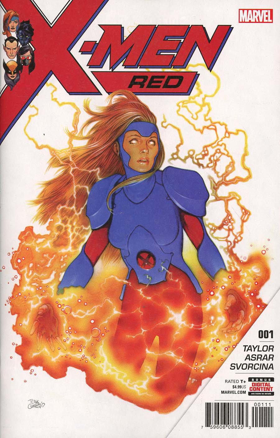 X-Men Red #1 Cover A 1st Ptg Regular Travis Charest Cover (Marvel Legacy Tie-In)