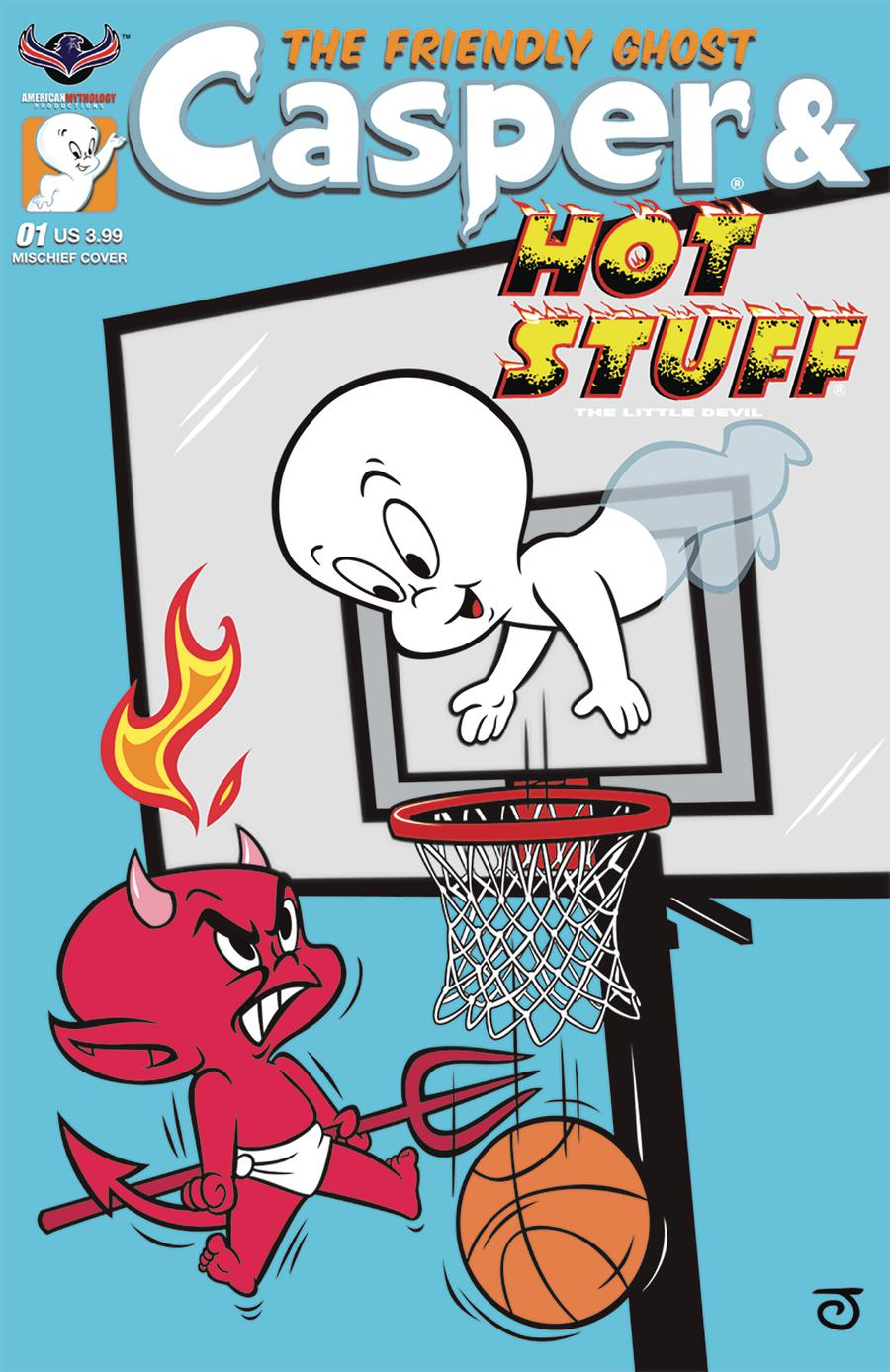 Casper And Hot Stuff #1 Cover C Variant Jeff Scherer Mischief Cover