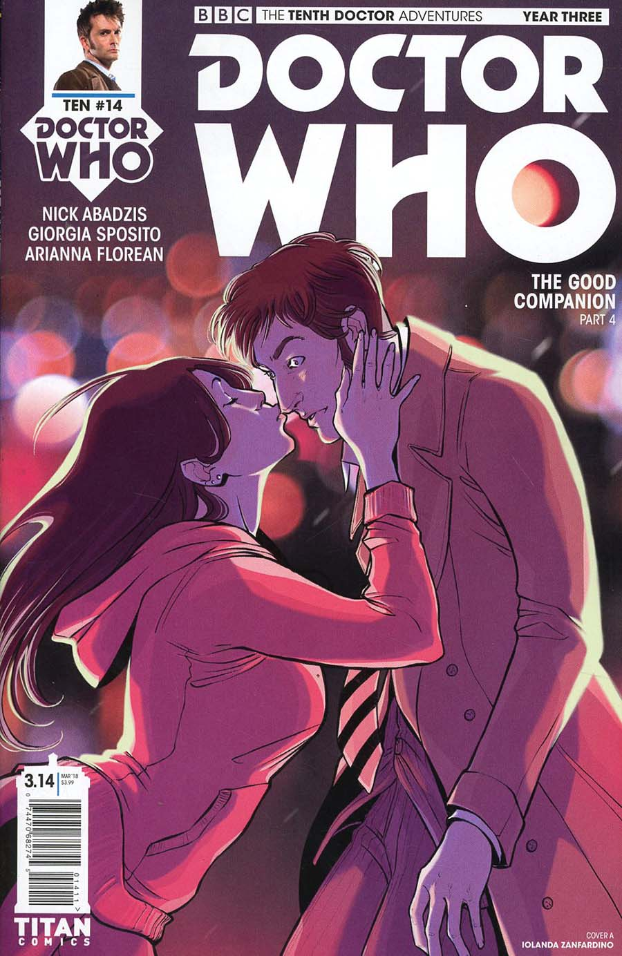 Doctor Who 10th Doctor Year Three #14 Cover A Regular Iolanda Zanfardino Cover