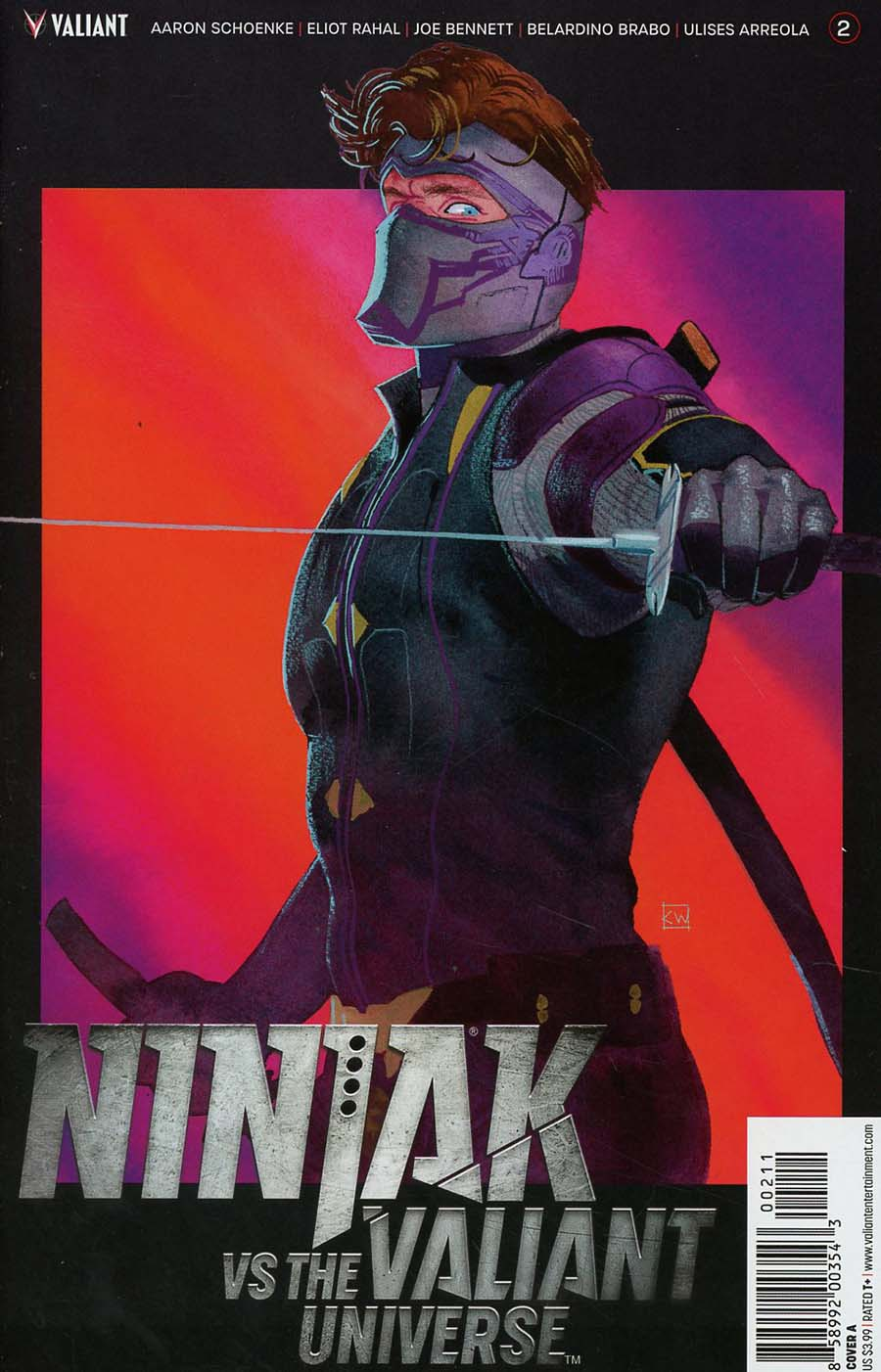 Ninjak vs The Valiant Universe #2 Cover A Regular Kevin Wada Cover
