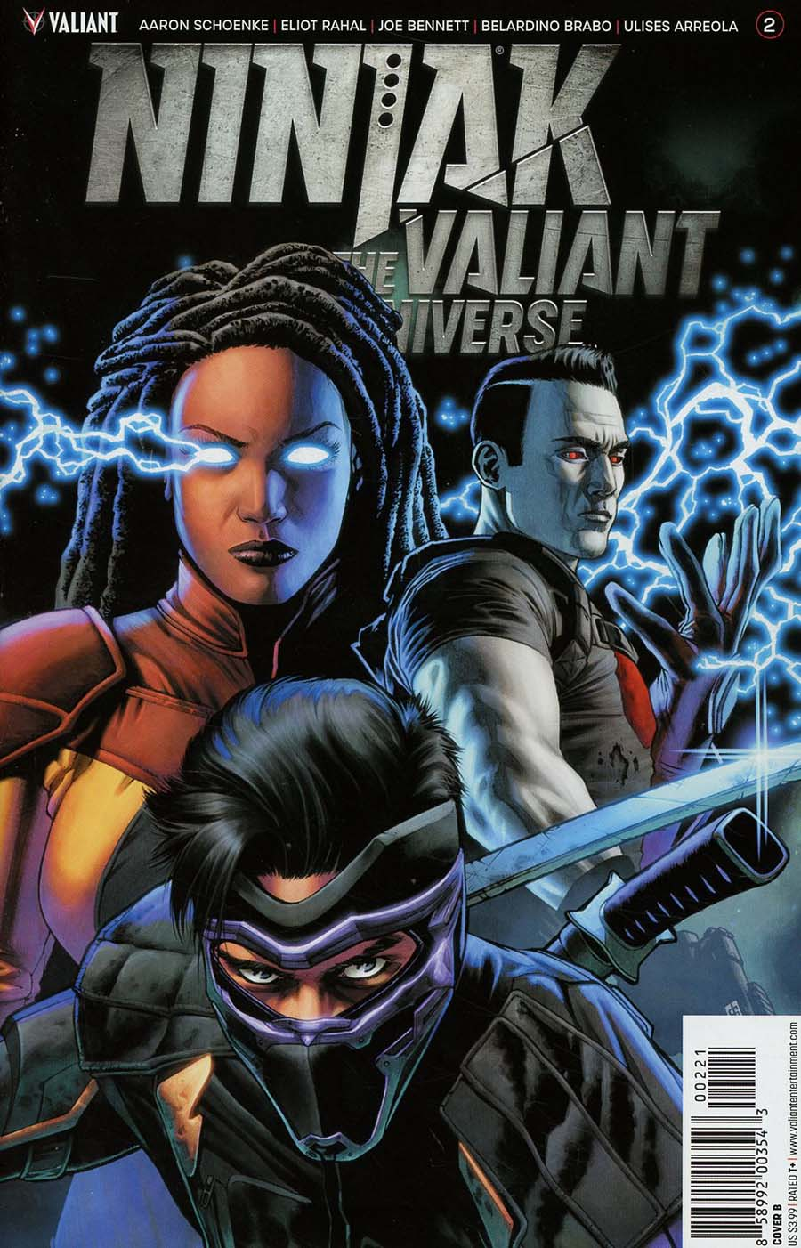Ninjak vs The Valiant Universe #2 Cover B Variant CAFU Cover