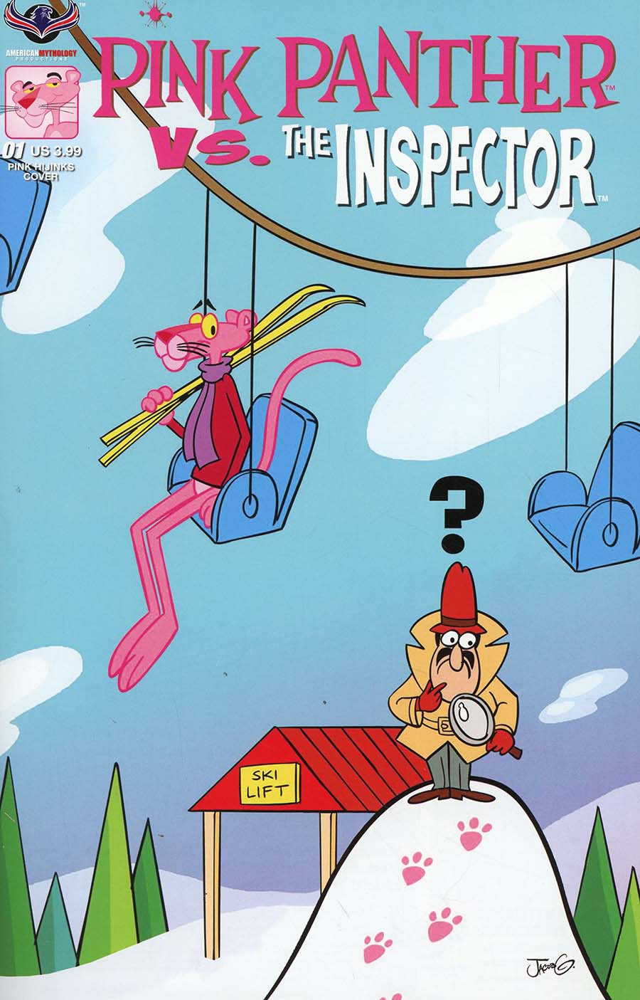 Pink Panther vs The Inspector #1 Cover B Variant Jacob Greenawalt Pink Hijinks Cover
