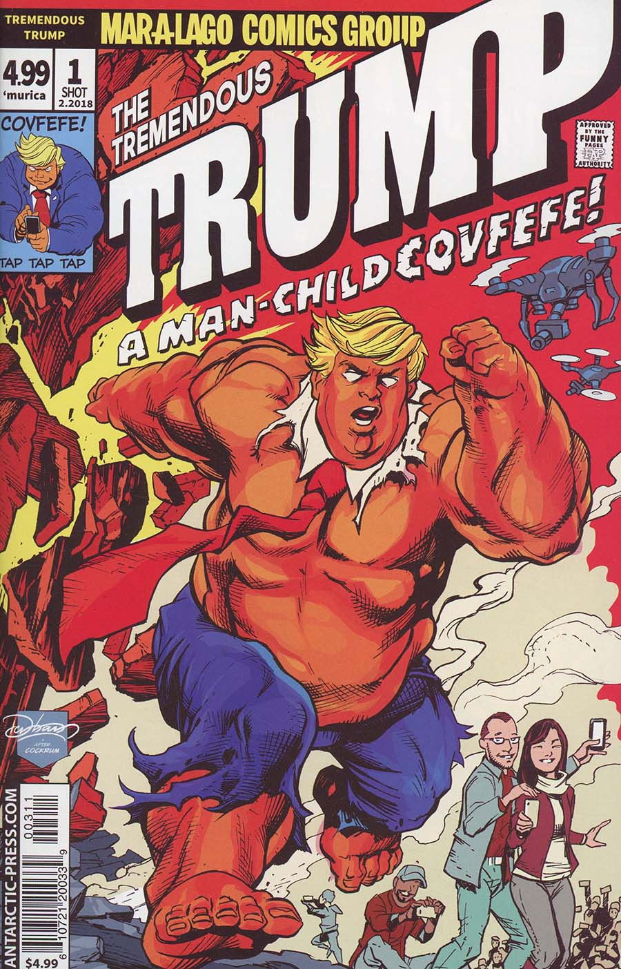 Tremendous Trump A Man-Child Covfefe One Shot Cover A Regular Brian Denham Cover