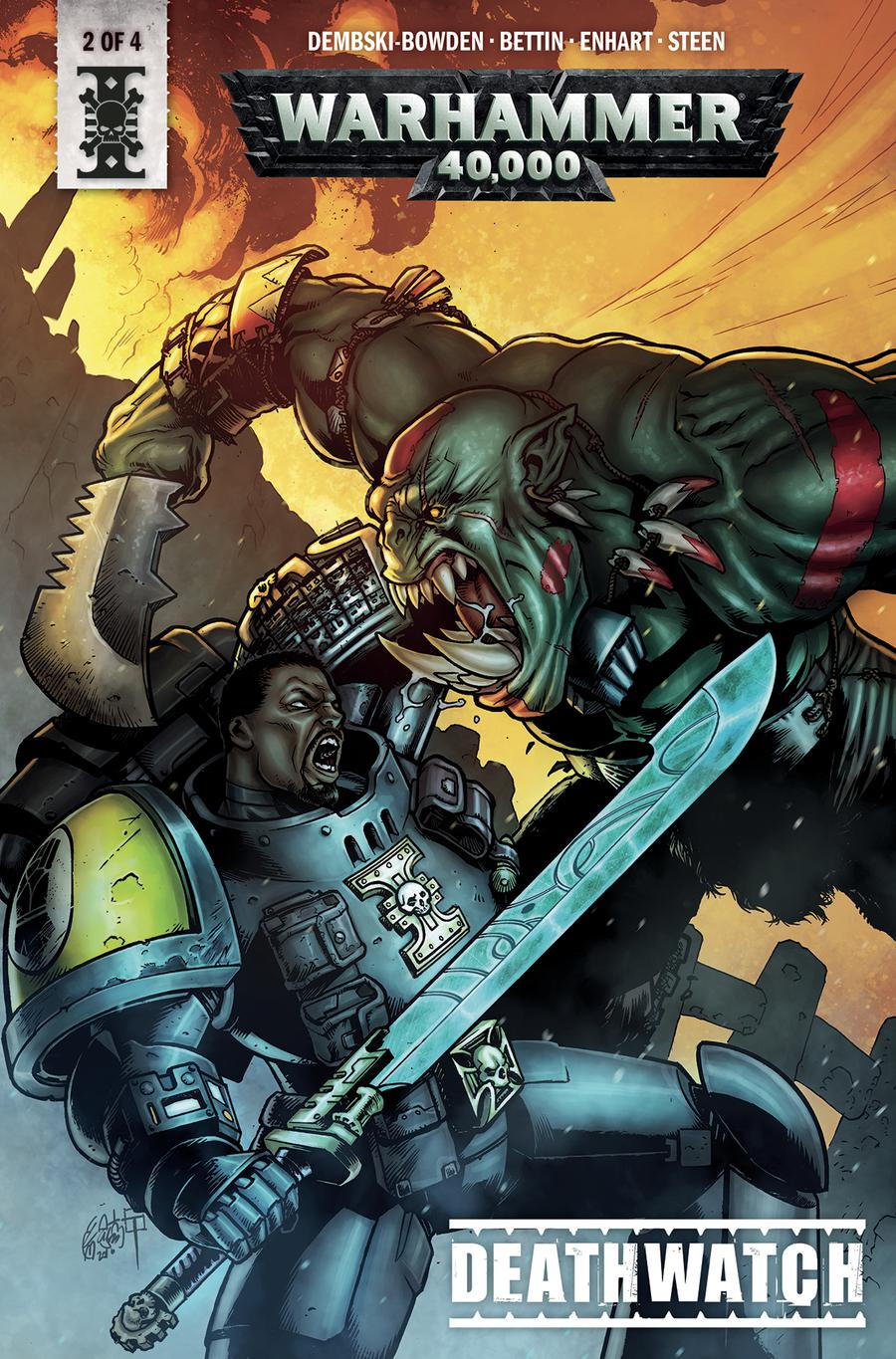 Warhammer 40000 Deathwatch #2 Cover B Variant Tazio Bettin and Enrica Angiolini Cover