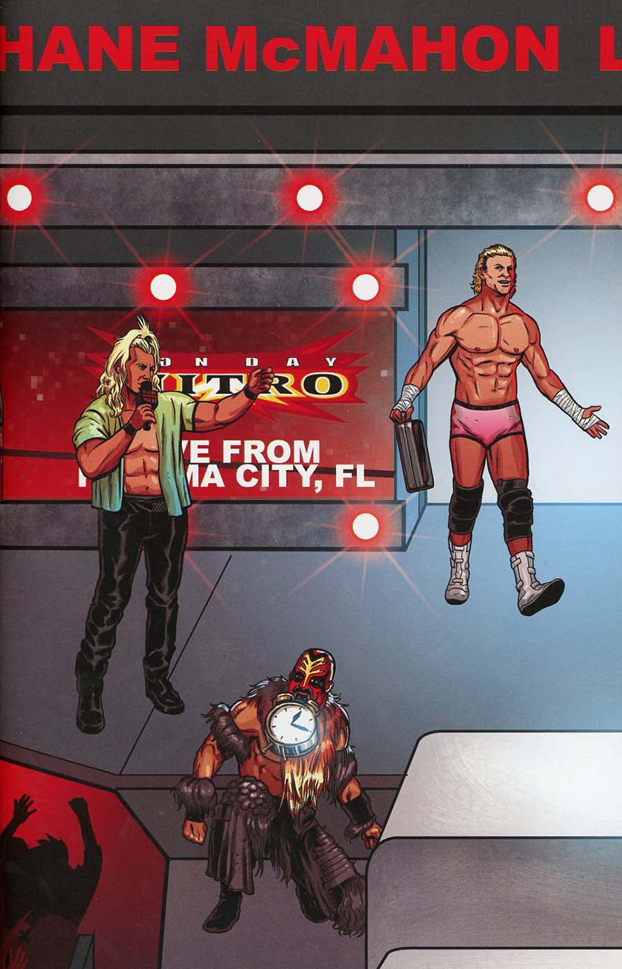 WWE #14 Cover C Variant Brent Schoonover RAW Connecting Cover