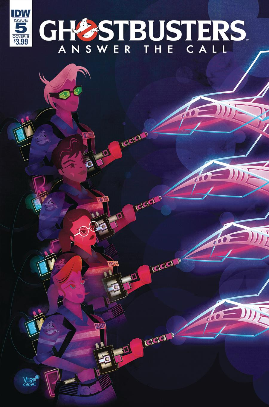 Ghostbusters Answer The Call #5 Cover B Variant Jeffrey Veregge Cover
