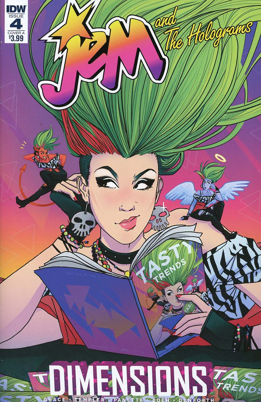 Jem And The Holograms Dimensions #4 Cover A Regular Abby Boeh Cover