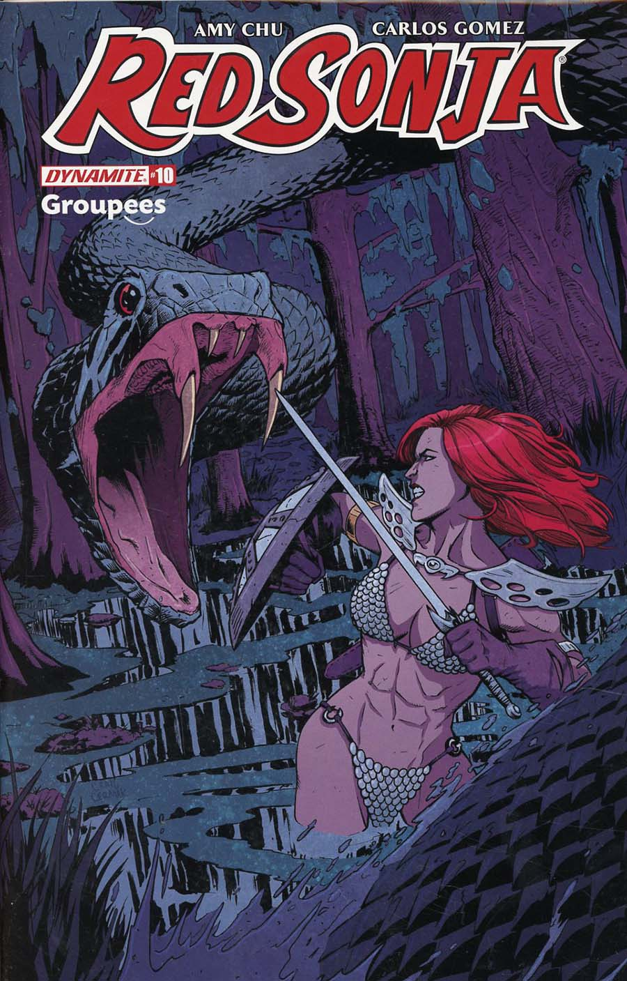Red Sonja Vol 7 #10 Cover I Groupees Exclusive Craig Cermak Color Variant Cover