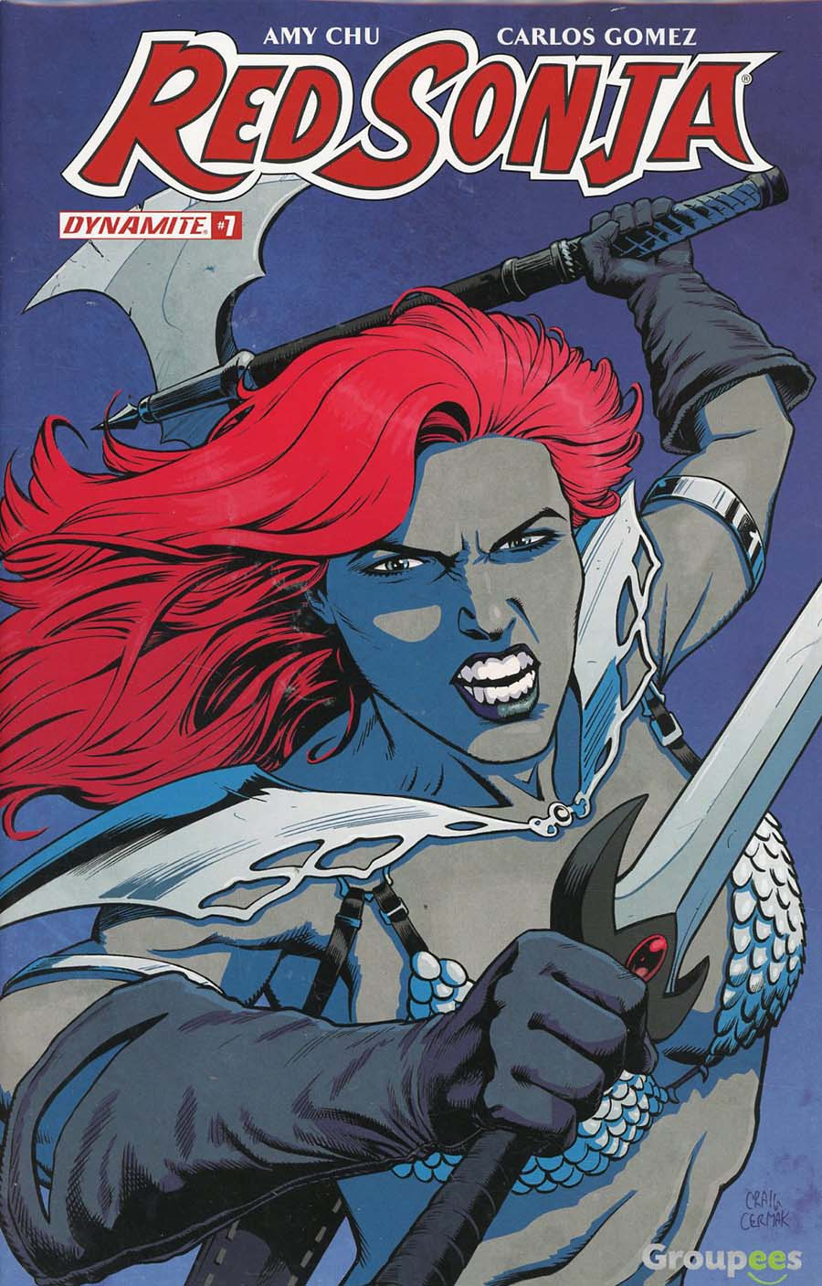 Red Sonja Vol 7 #7 Cover I Groupees Exclusive Craig Cermak Color Variant Cover