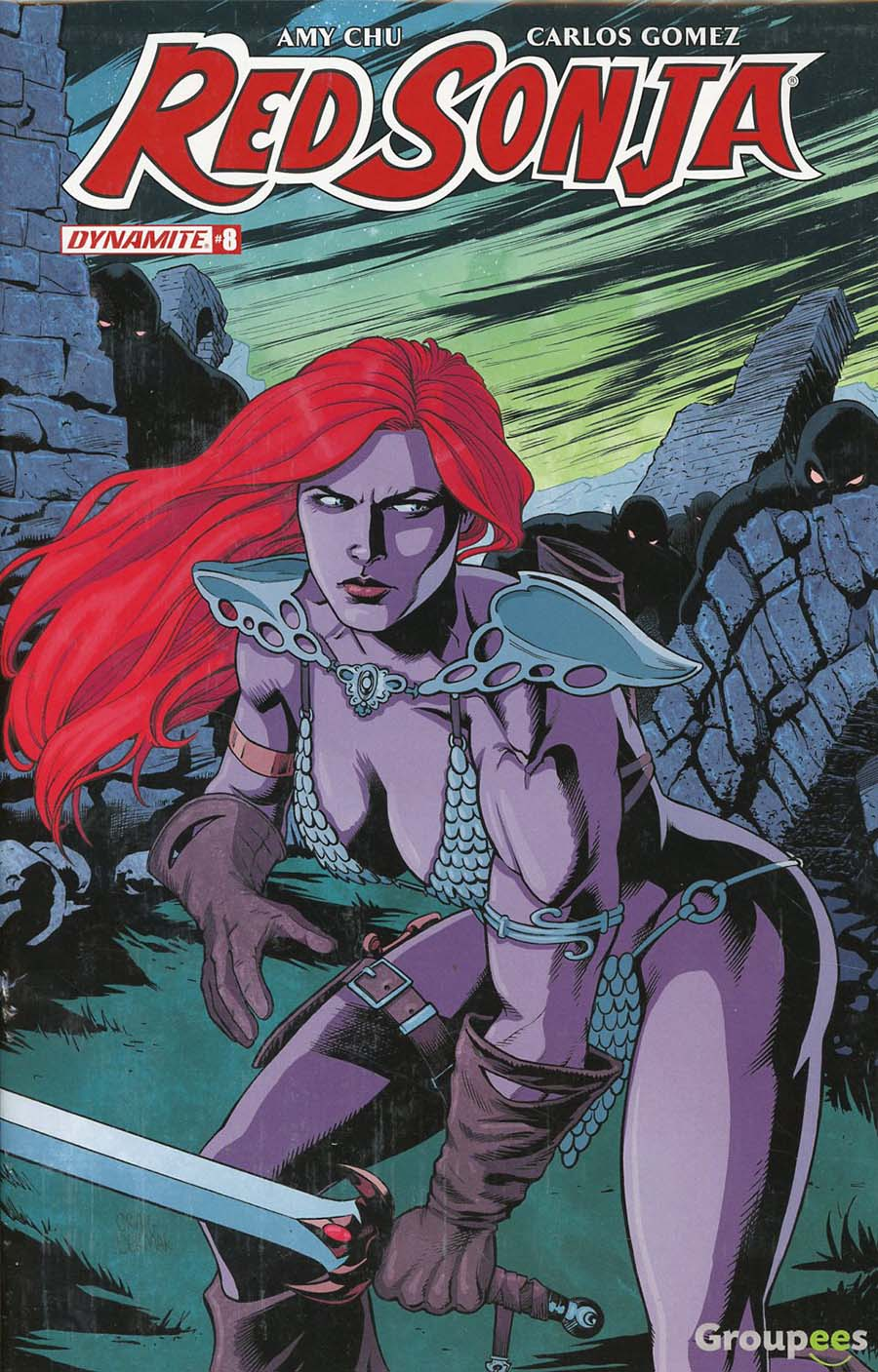 Red Sonja Vol 7 #8 Cover I Groupees Exclusive Craig Cermak Color Variant Cover