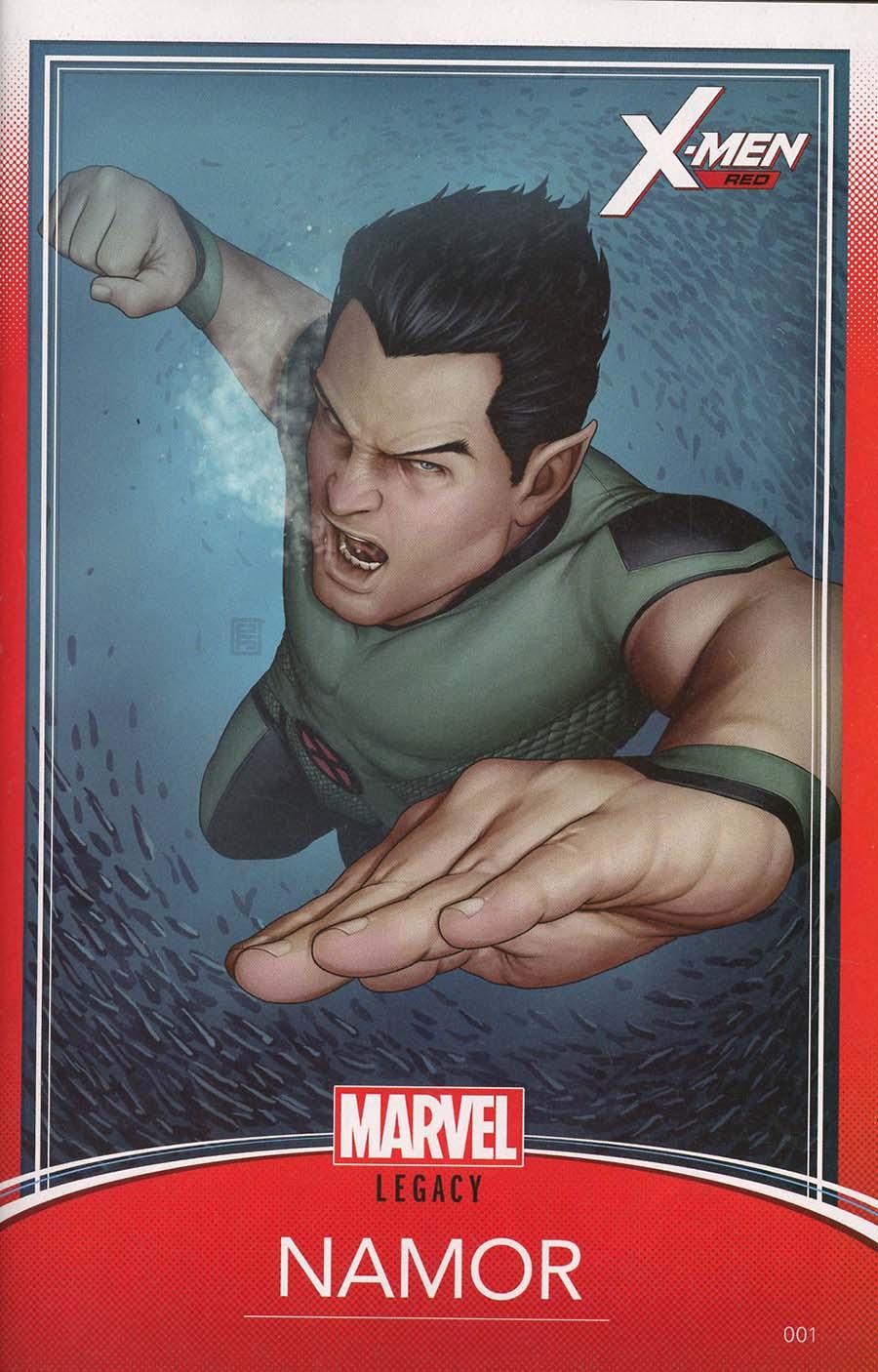 X-Men Red #1 Cover B Variant John Tyler Christopher Trading Card Cover (Marvel Legacy Tie-In)