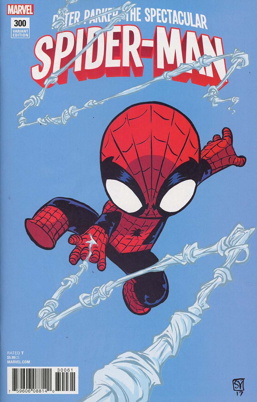 Peter Parker Spectacular Spider-Man #300 Cover C Variant Skottie Young Baby Cover (Marvel Legacy Tie-In)