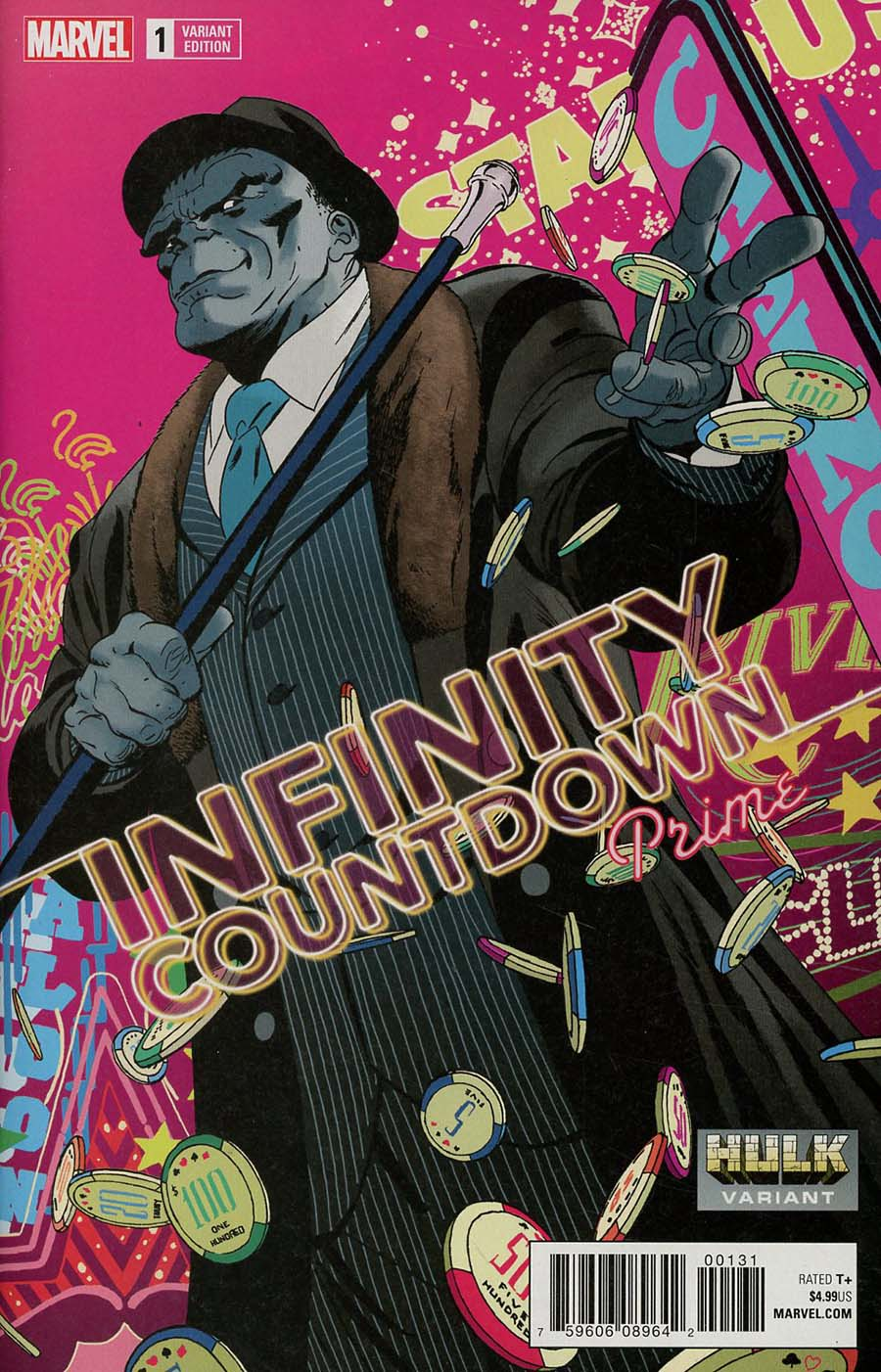 Infinity Countdown Prime #1 Cover B Variant Marcos Martin Hulk Smash Cover (Marvel Legacy Tie-In)