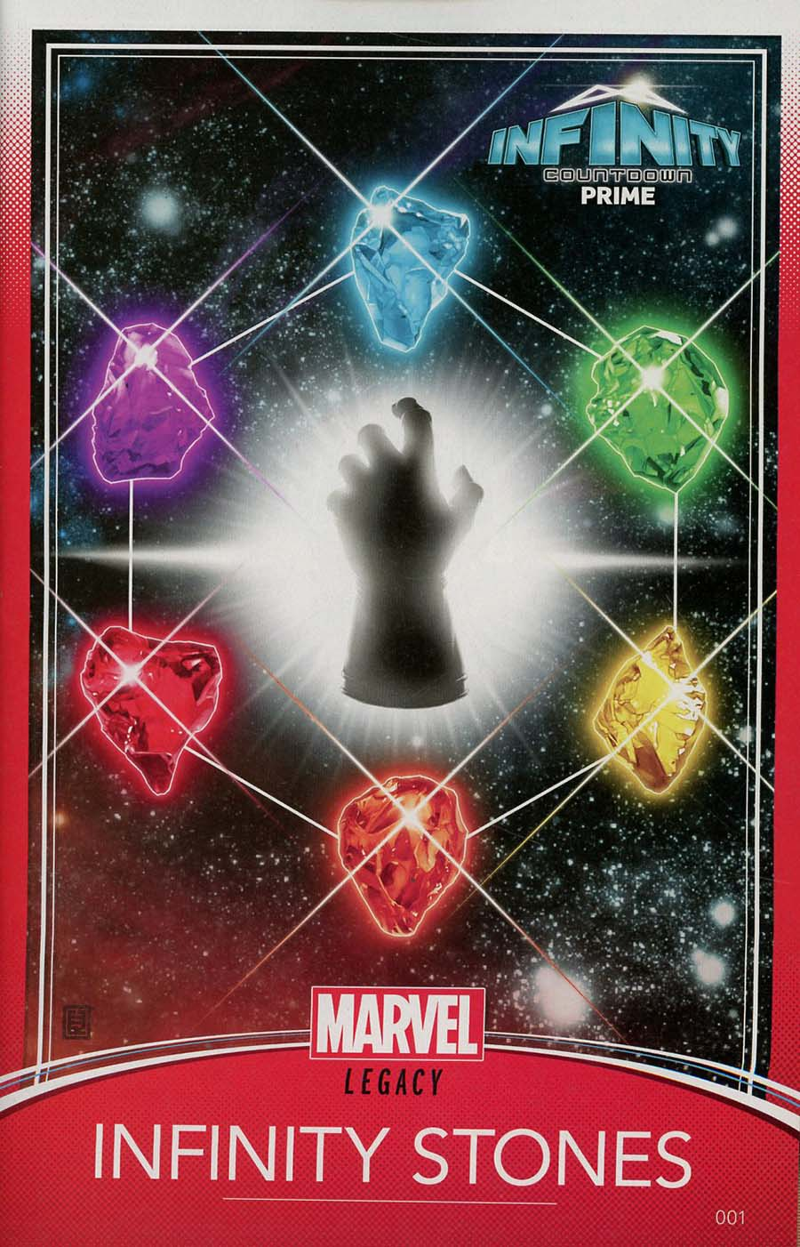 Infinity Countdown Prime #1 Cover C Variant John Tyler Christopher Trading Card Cover (Marvel Legacy Tie-In)