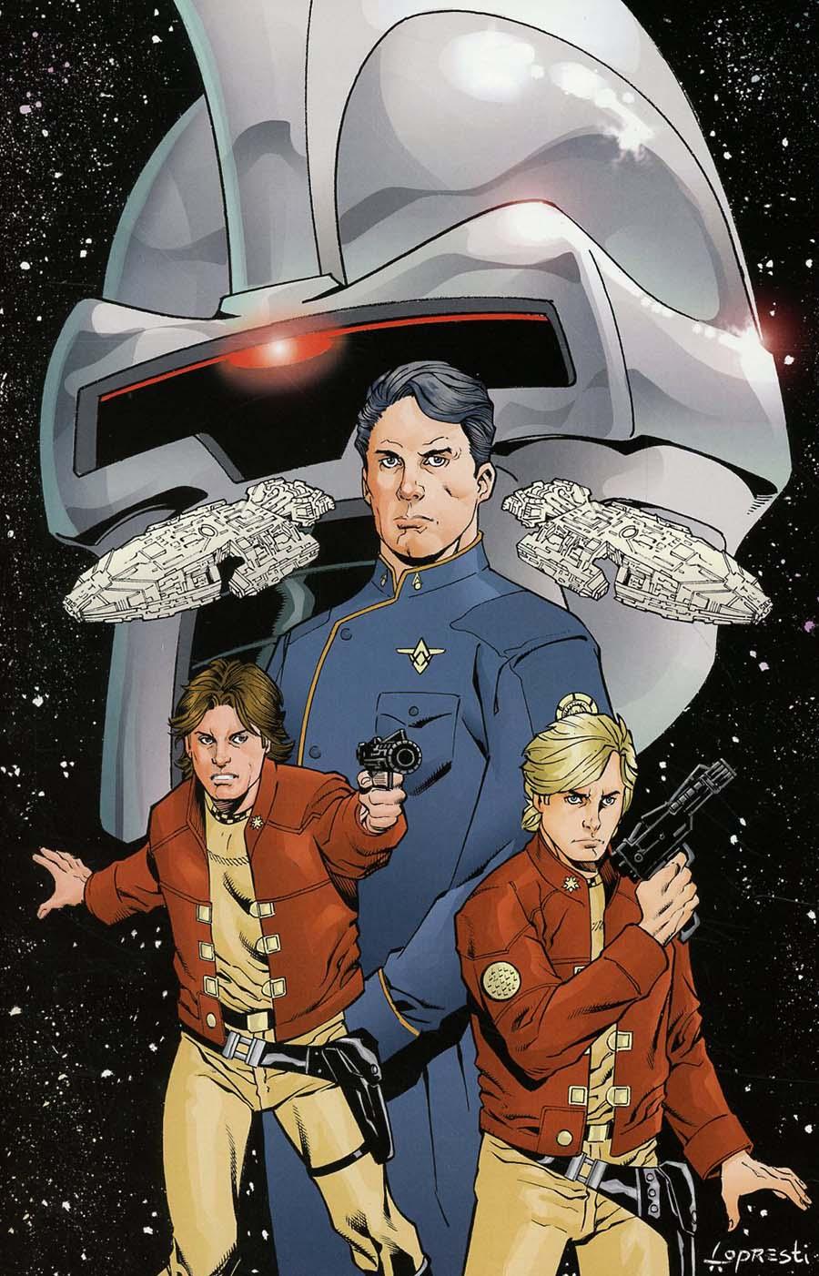 Battlestar Galactica vs Battlestar Galactica #2 Cover G Incentive Aaron Lopresti Virgin Cover