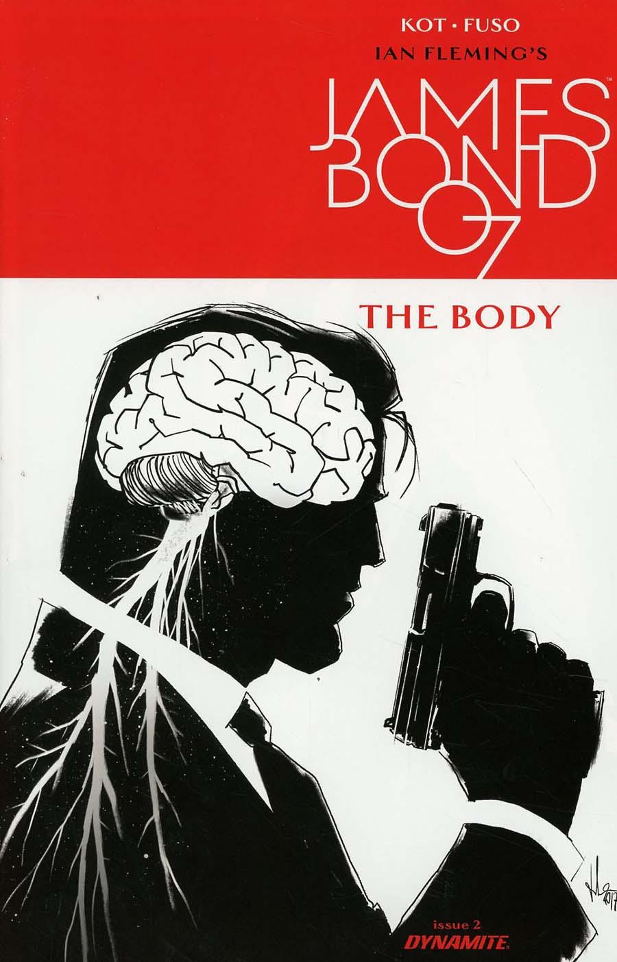 James Bond The Body #2 Cover B Incentive Luca Casalanguida Black & White Cover