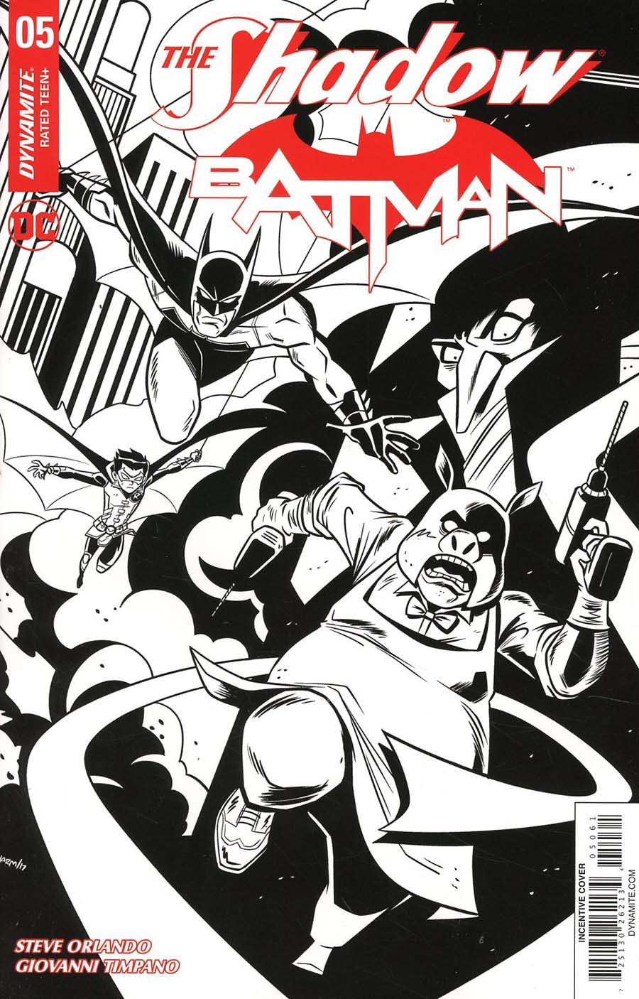 Shadow Batman #5 Cover F Incentive Derek Charm Black & White Cover