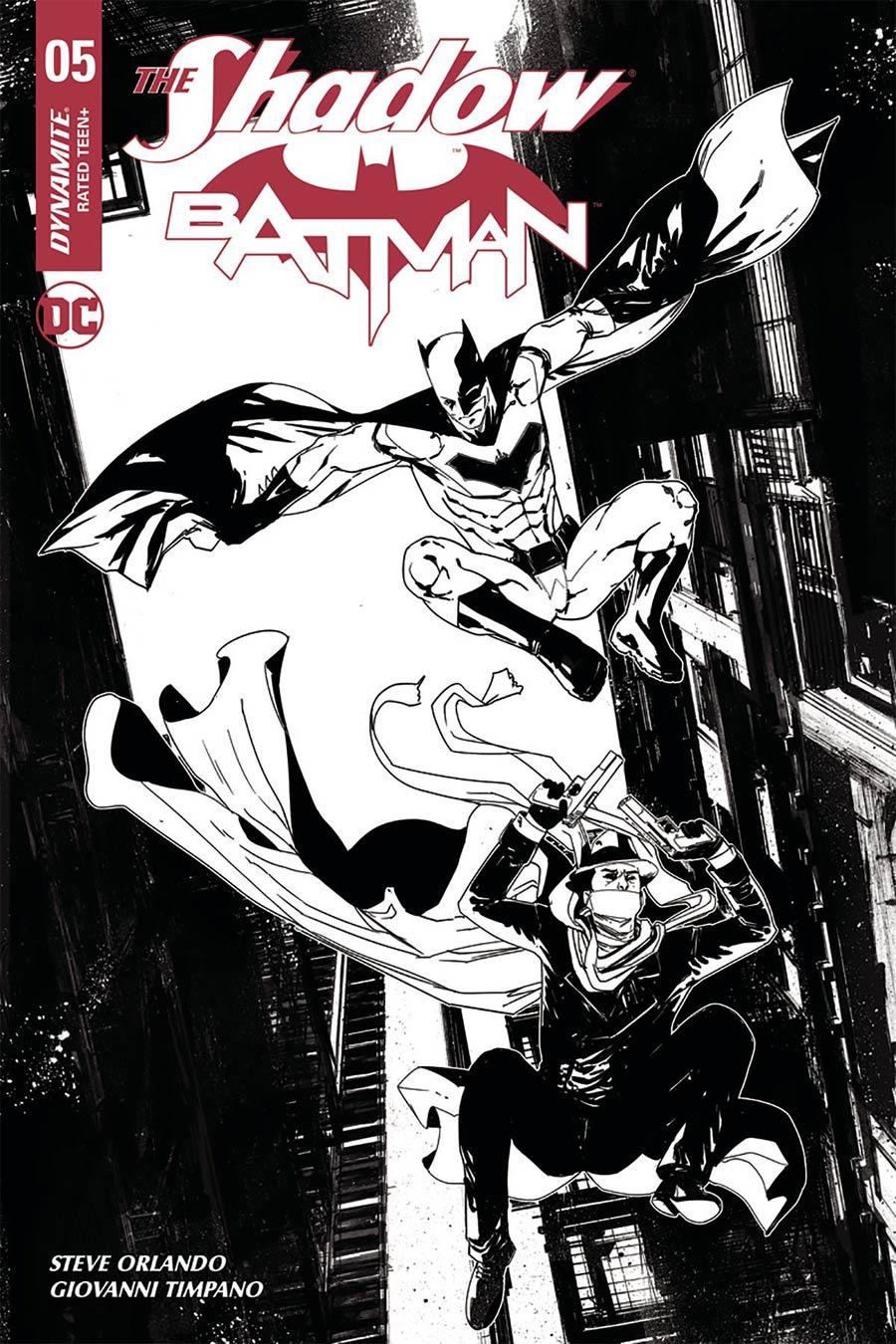 Shadow Batman #5 Cover H Incentive Robert Carey Black & White Cover
