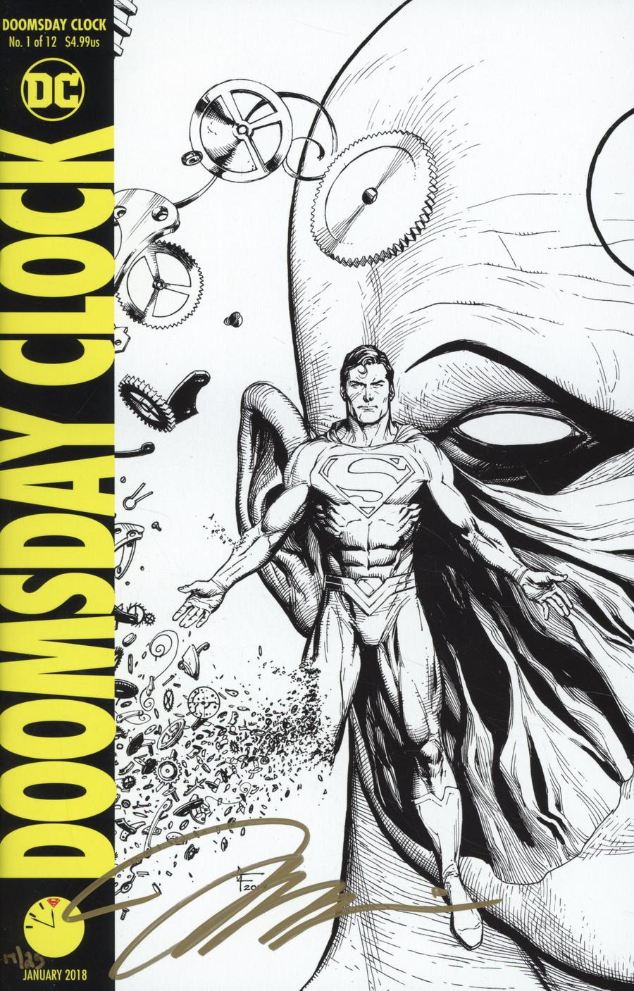Doomsday Clock #1 Cover F DF Variant Gary Frank Cover Signed By Jim Lee